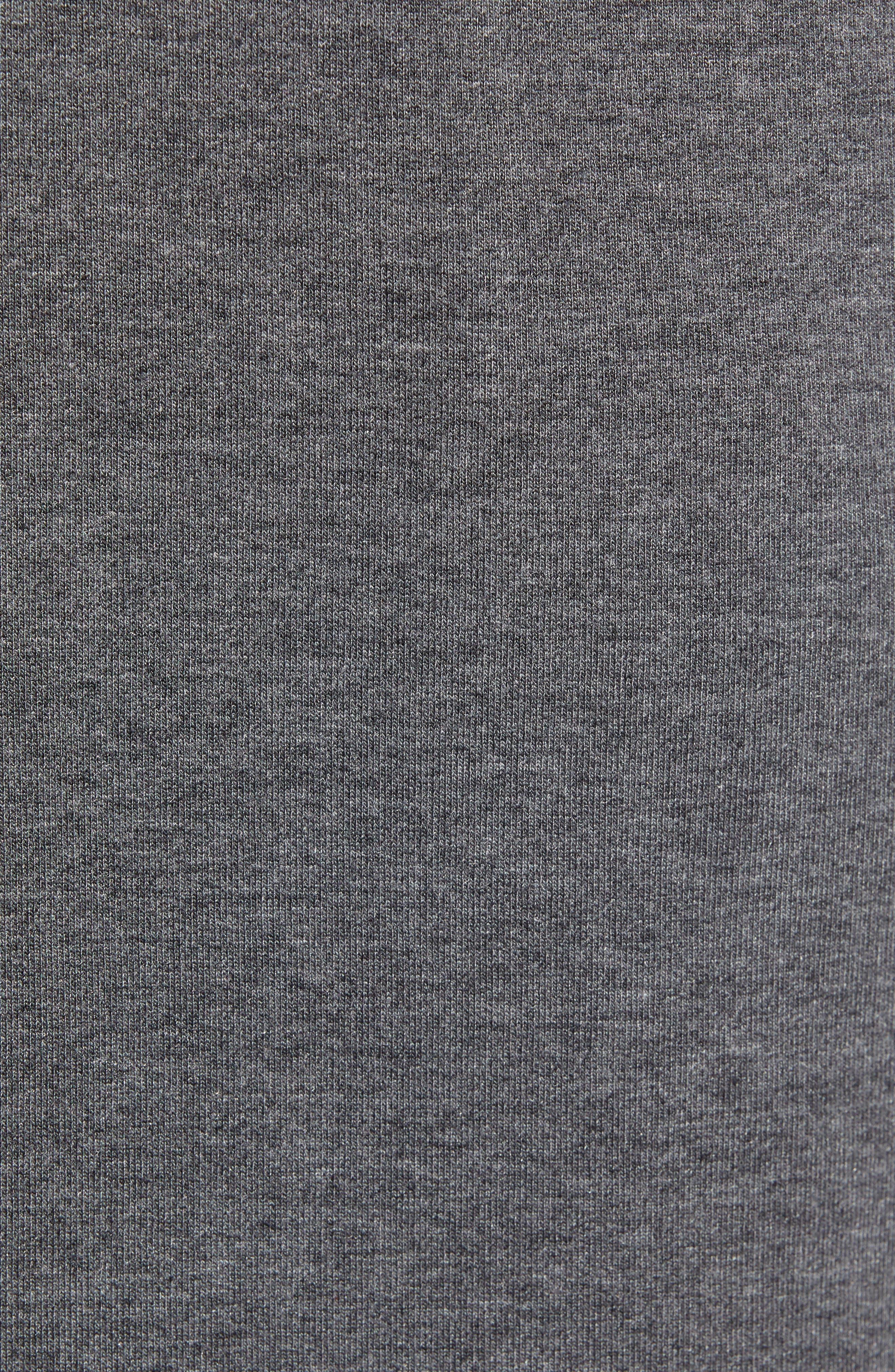 Modal Blend Lounge Shorts,                             Alternate thumbnail 5, color,                             CHARCOAL HEATHER