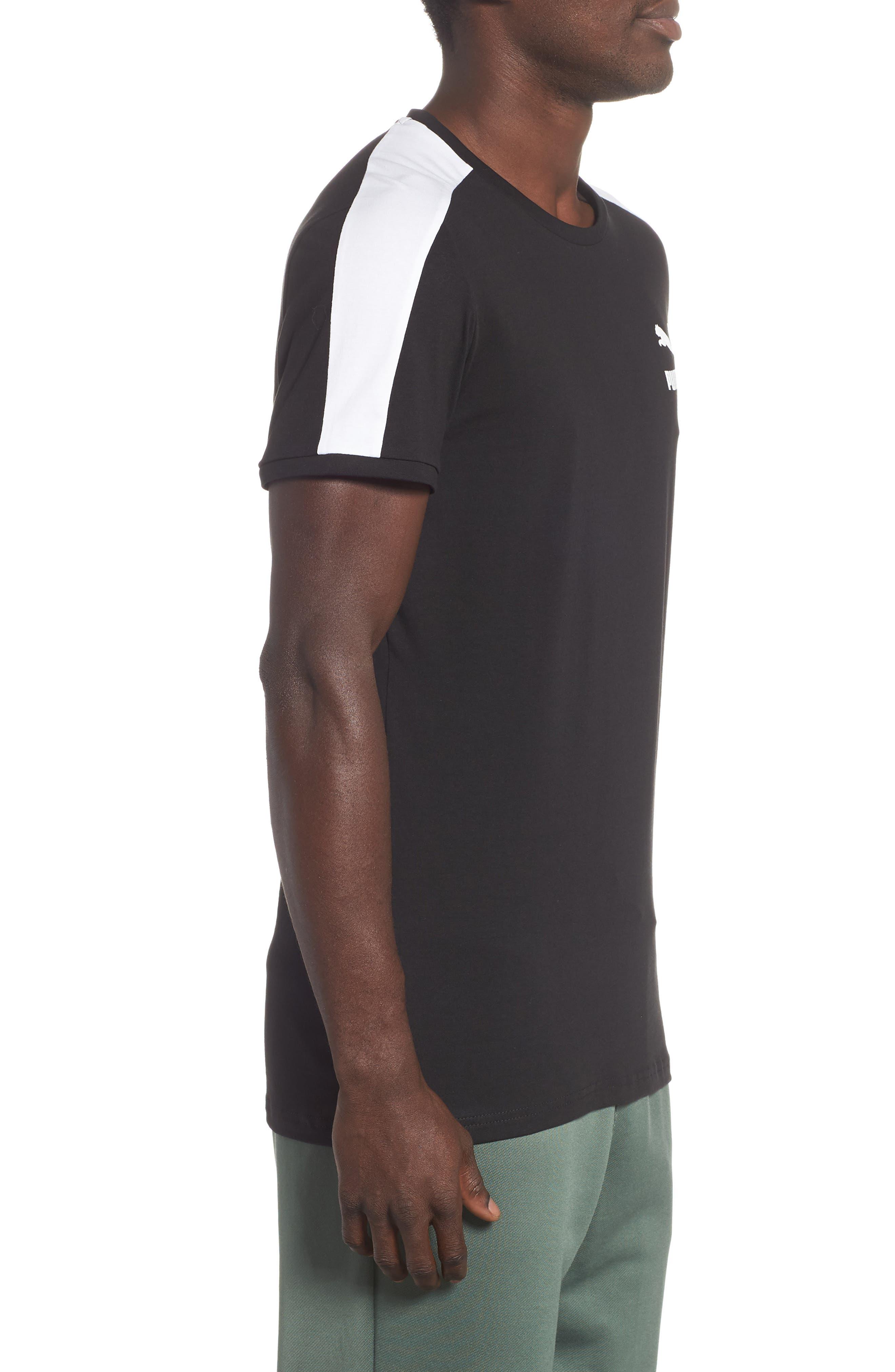 Slim fit Classics T7 T-Shirt,                             Alternate thumbnail 3, color,                             BLACK