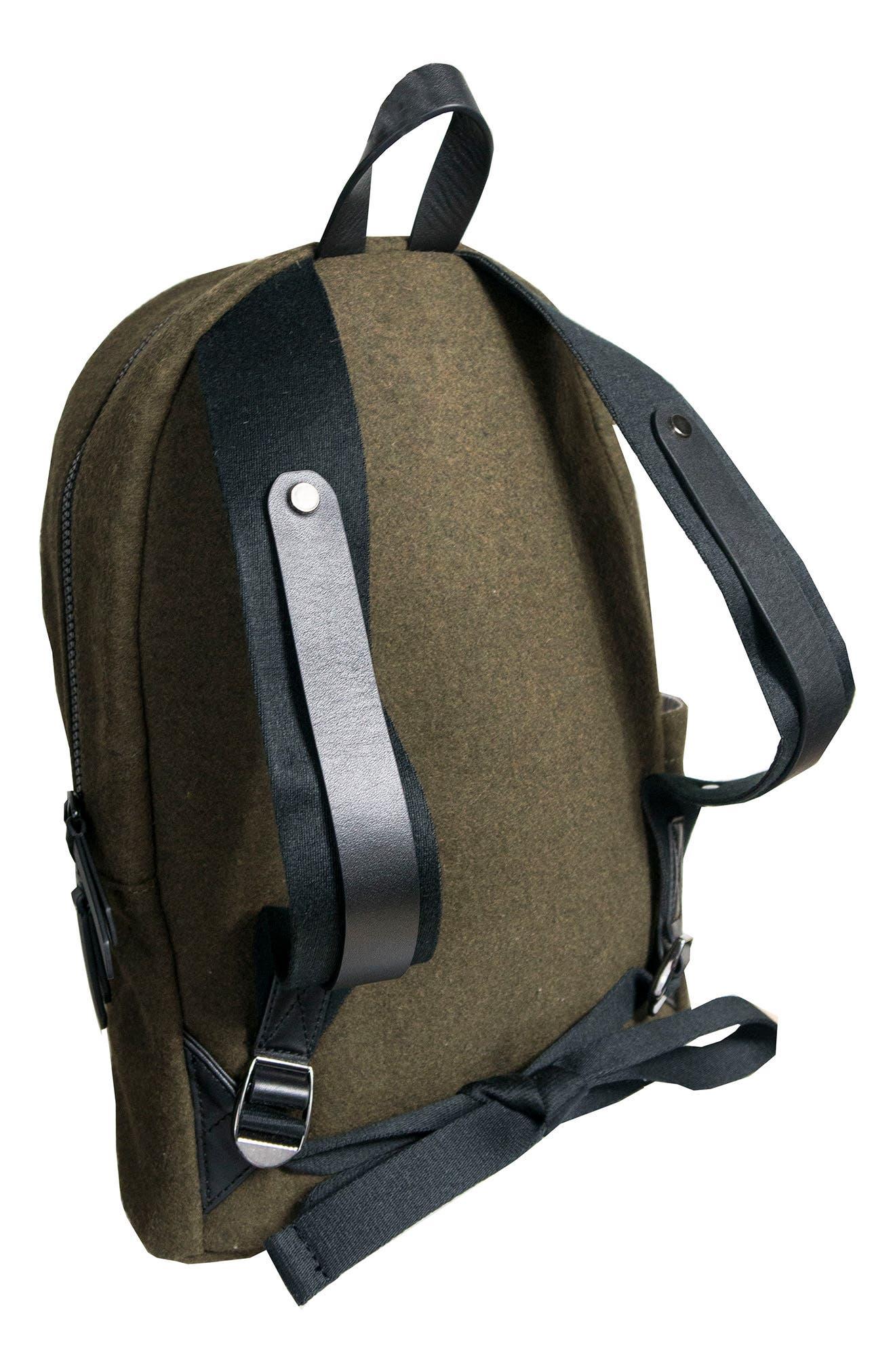 Indie Boiled Wool Backpack,                             Alternate thumbnail 7, color,