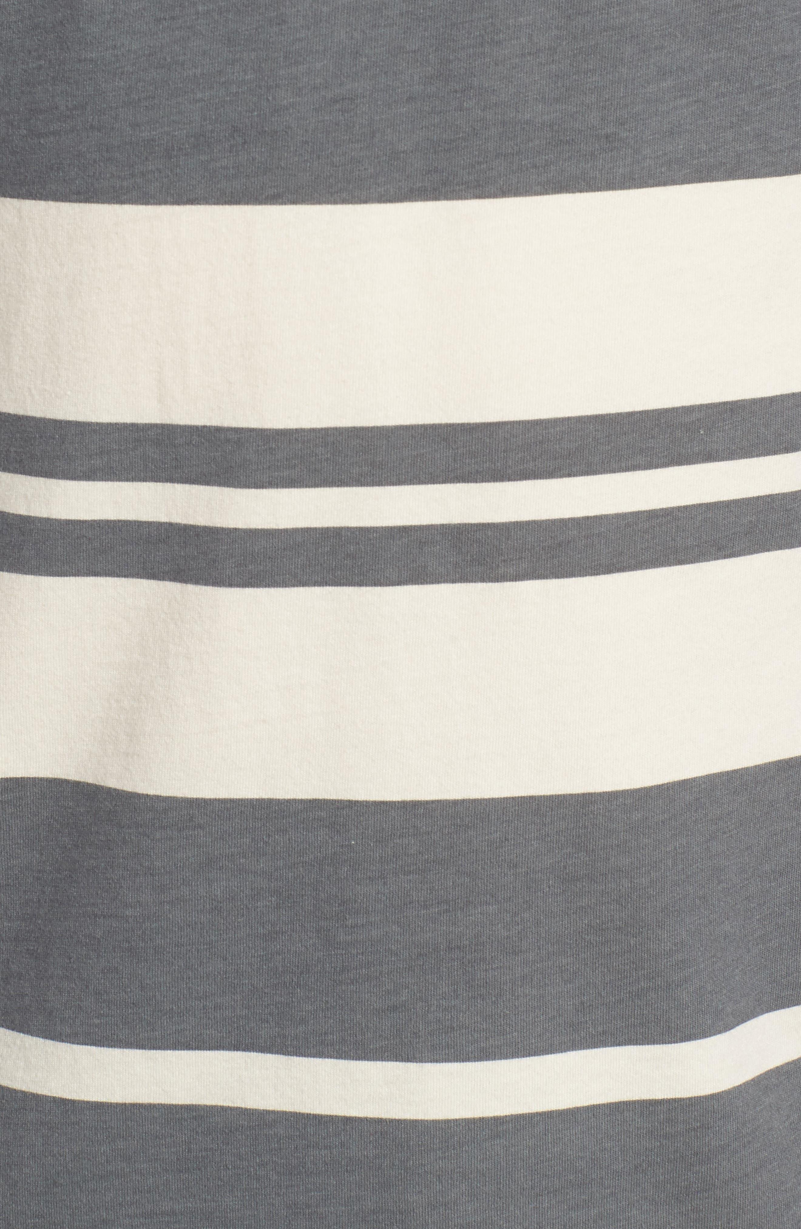 Lokea Stripe Pocket T-Shirt,                             Alternate thumbnail 5, color,                             012