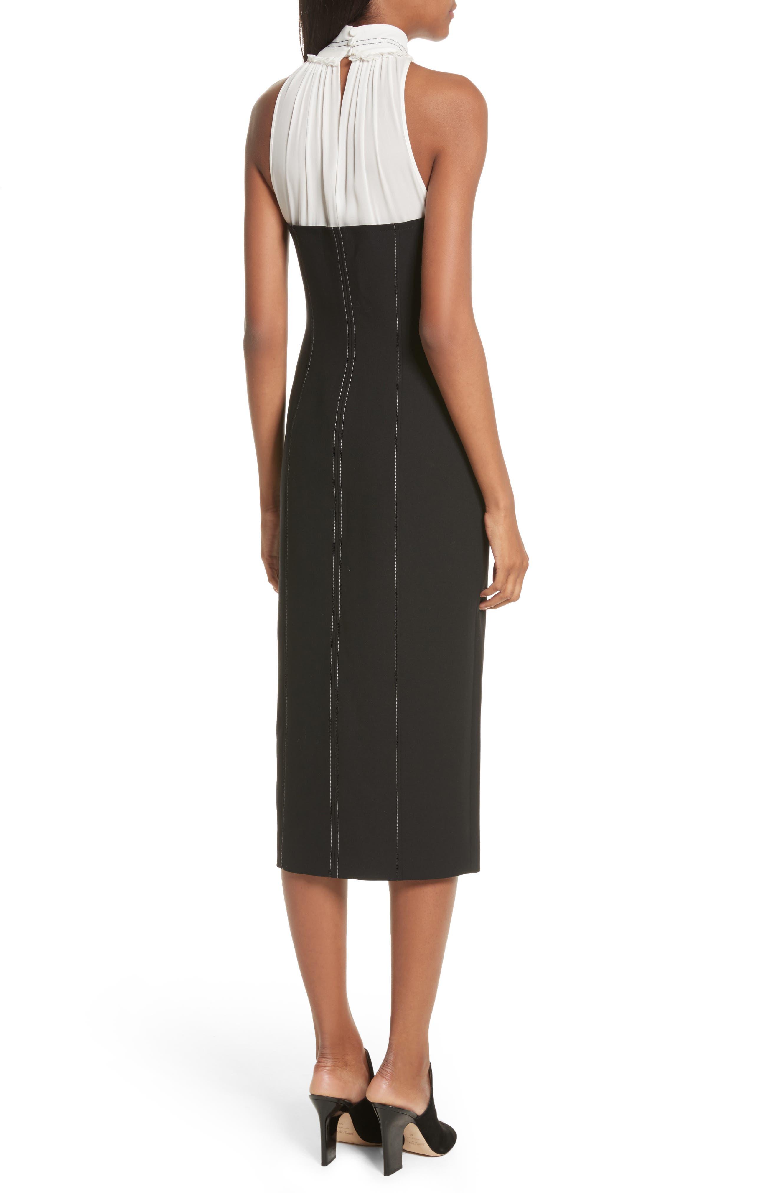 Noemi Halter Neck Dress,                             Alternate thumbnail 2, color,                             015