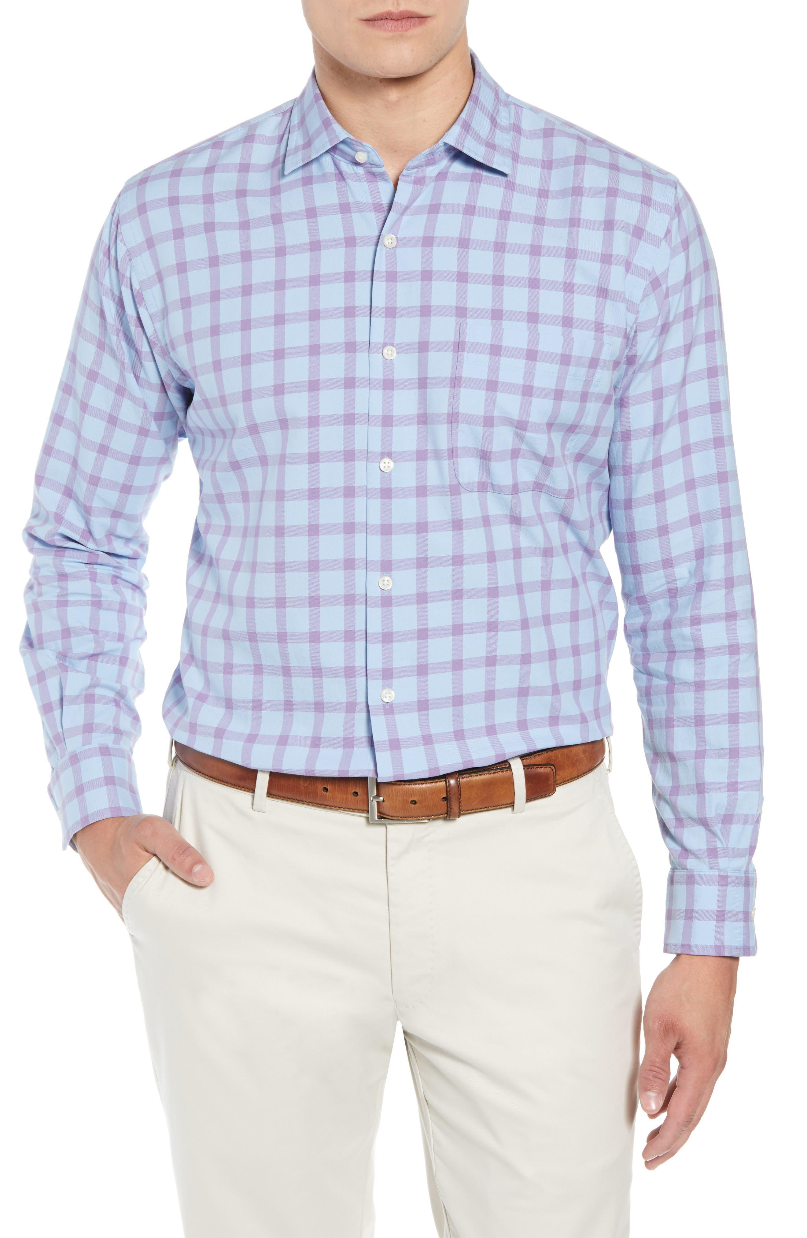 Castin Regular Fit Tattersall Check Sport Shirt,                         Main,                         color, BLUE