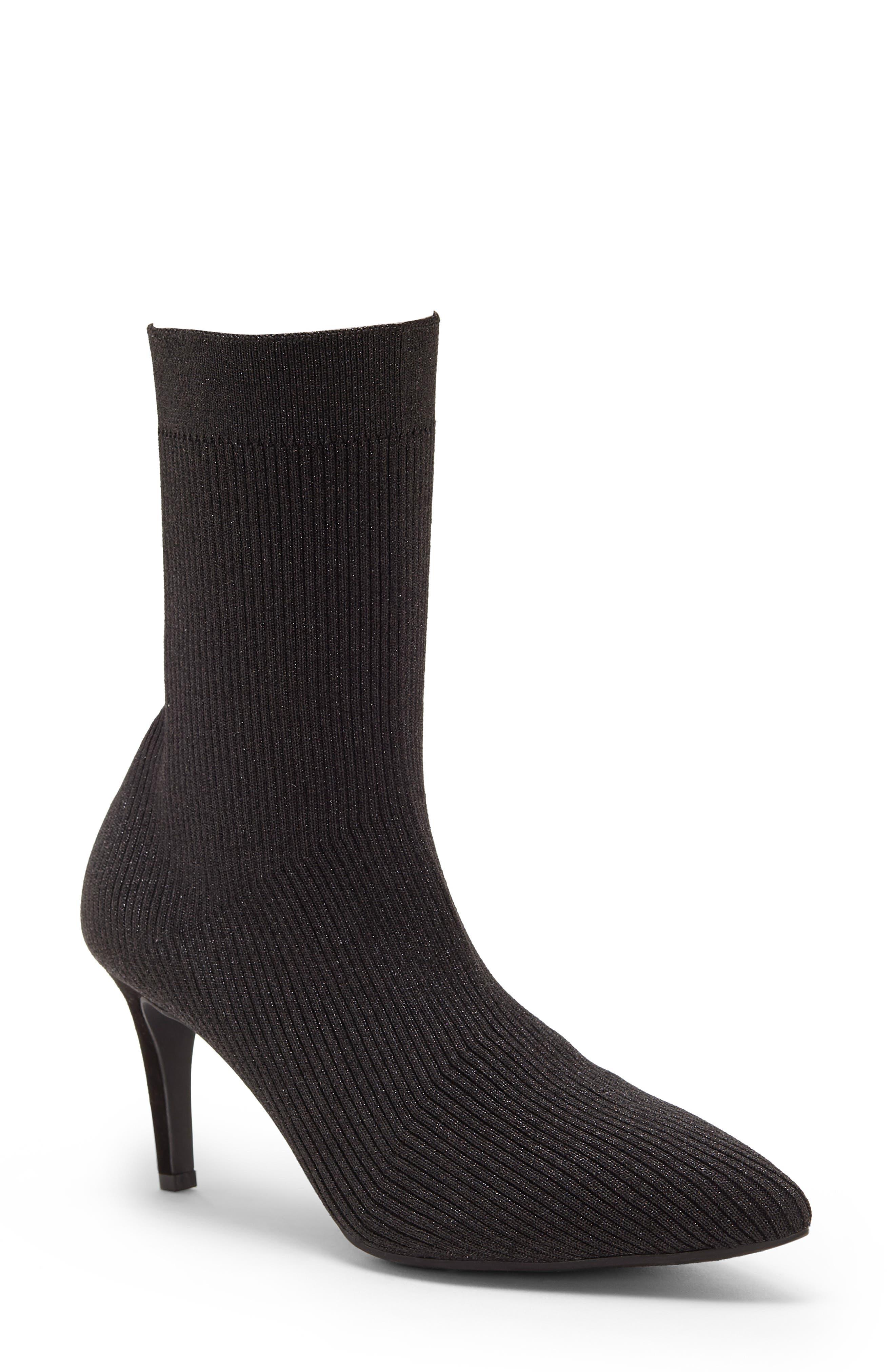 Roreeta Sock Boot,                             Main thumbnail 1, color,                             BLACK FABRIC