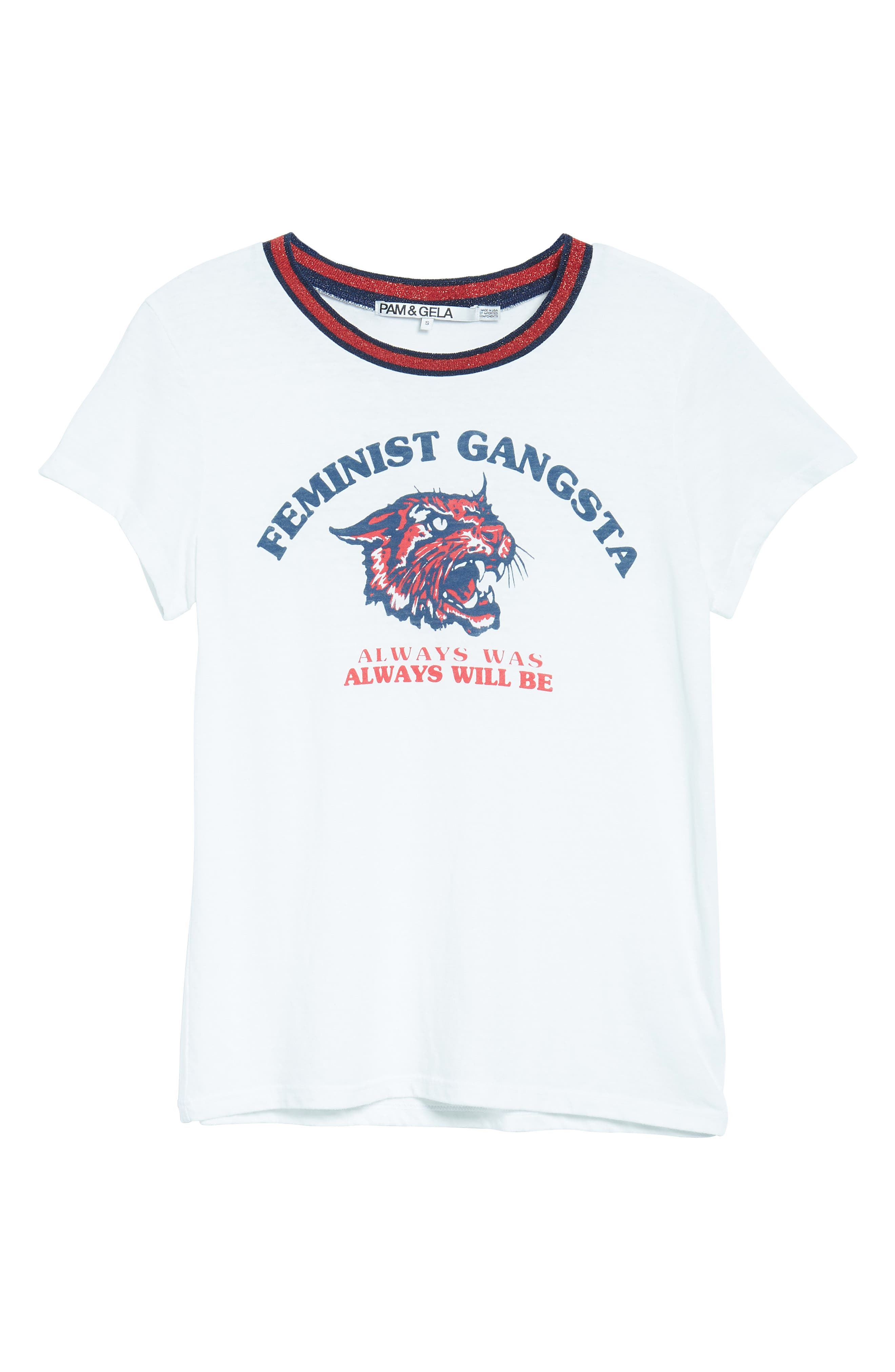 Feminist Gangsta Tee,                             Alternate thumbnail 6, color,