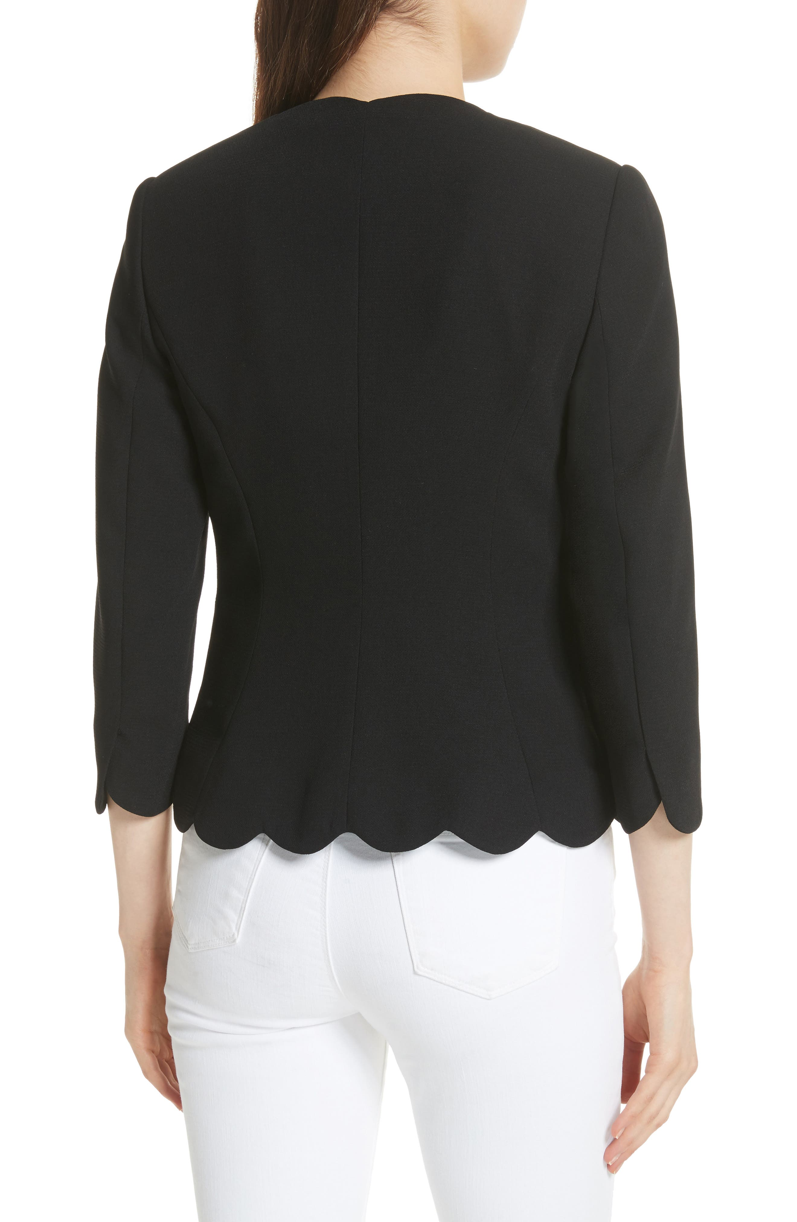 Scalloped Blazer,                             Alternate thumbnail 3, color,
