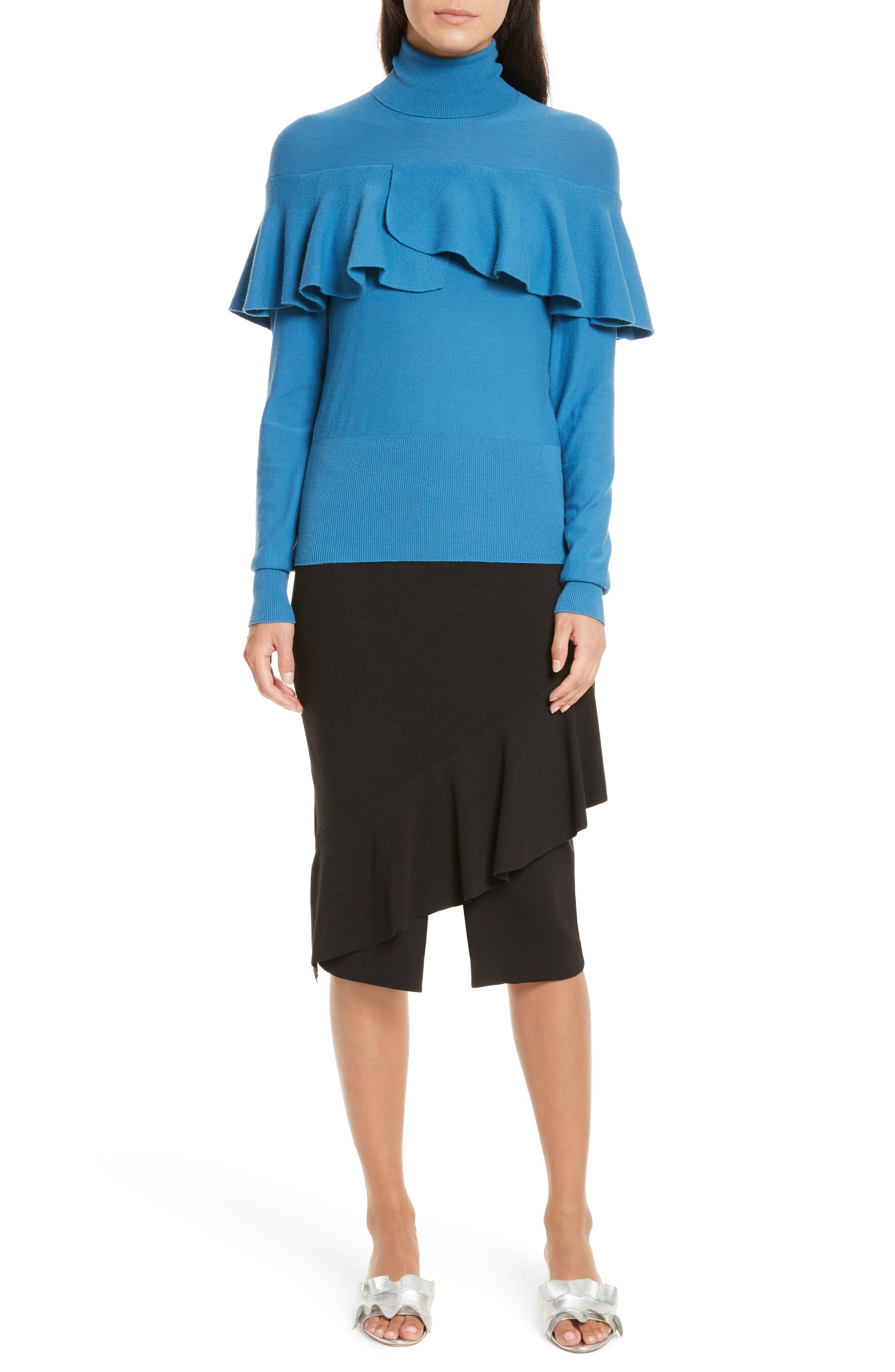 Three-Vent Skirt,                             Alternate thumbnail 7, color,                             001