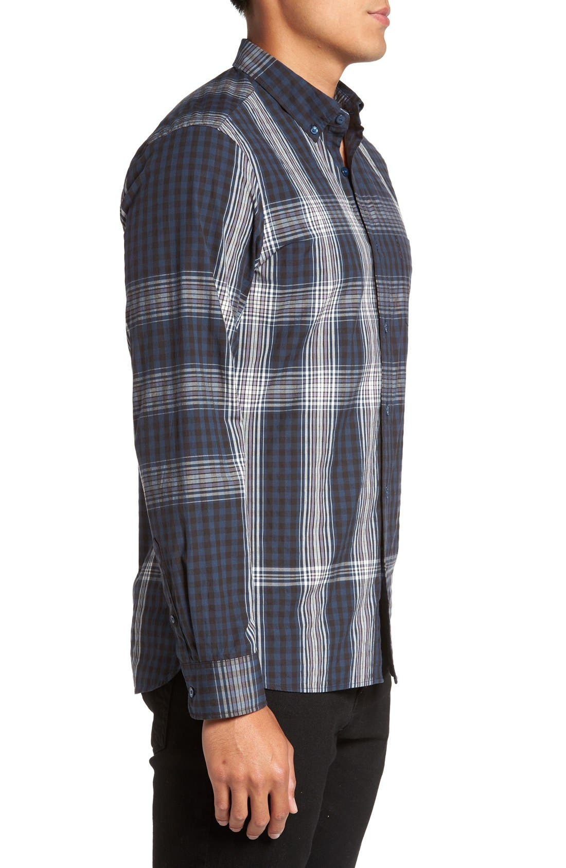 'Blackrock' Trim Fit Plaid Sport Shirt,                             Alternate thumbnail 5, color,                             410