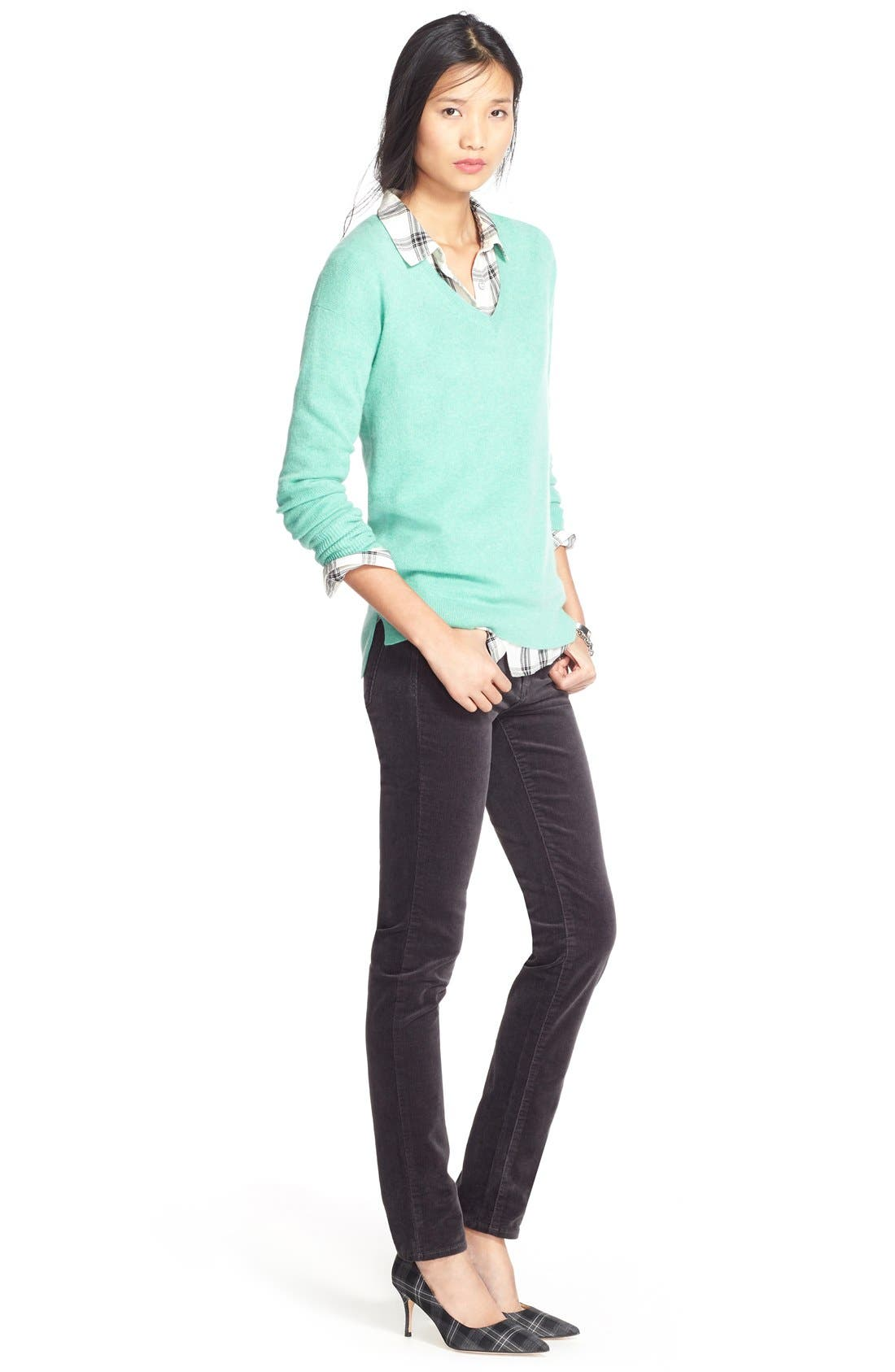 'Diana' Stretch Corduroy Skinny Pants,                             Alternate thumbnail 109, color,