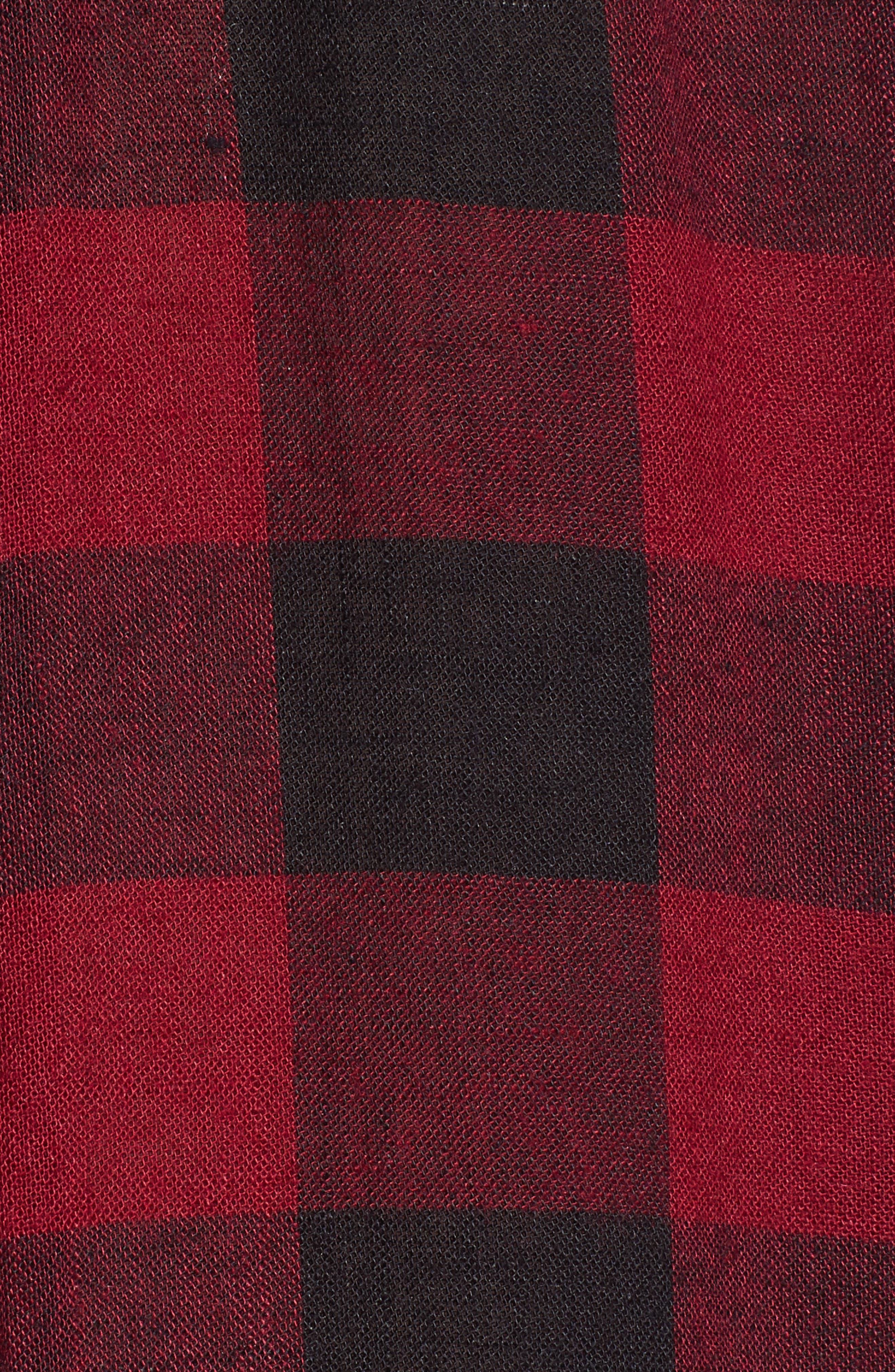 Redding Plaid Shirt,                             Alternate thumbnail 5, color,                             SANGUINE BLACK