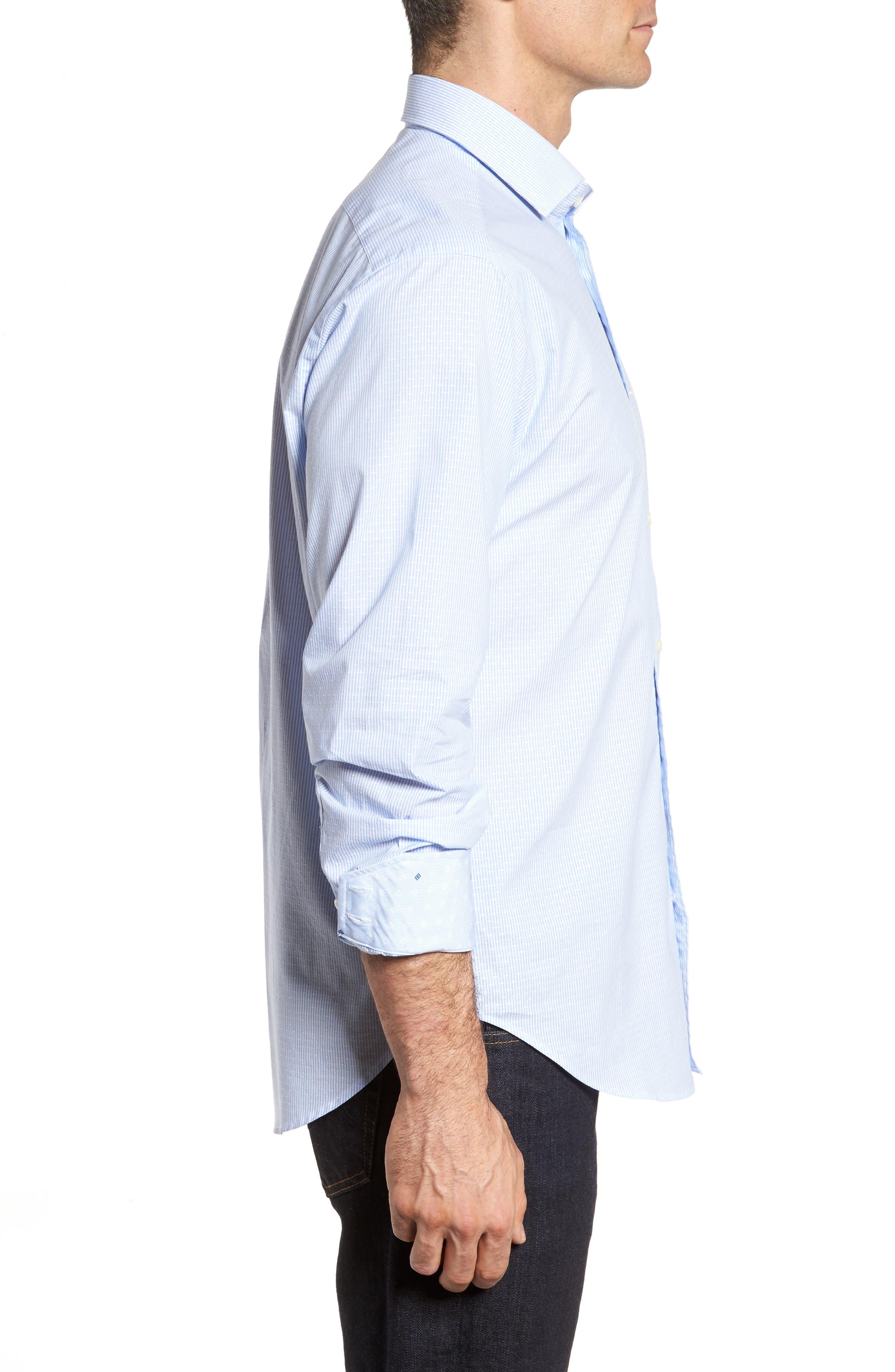 Regular Fit Stripe Sport Shirt,                             Alternate thumbnail 3, color,                             020