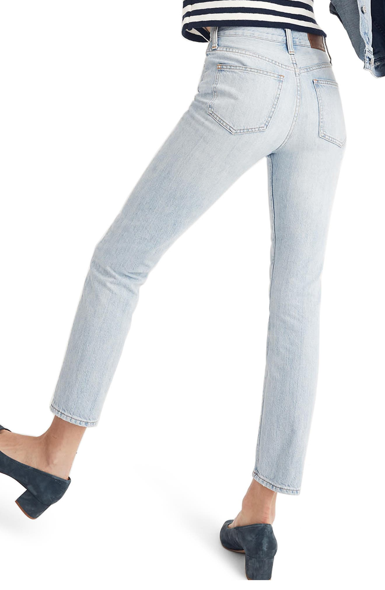 'Perfect Summer' High Rise Ankle Jeans,                             Alternate thumbnail 3, color,                             FITZGERALD WASH