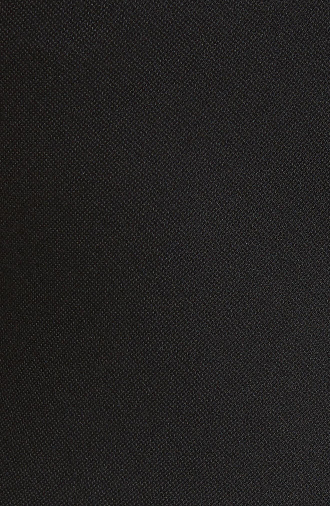 One-Shoulder Asymmetrical Jersey Dress,                             Alternate thumbnail 5, color,                             001