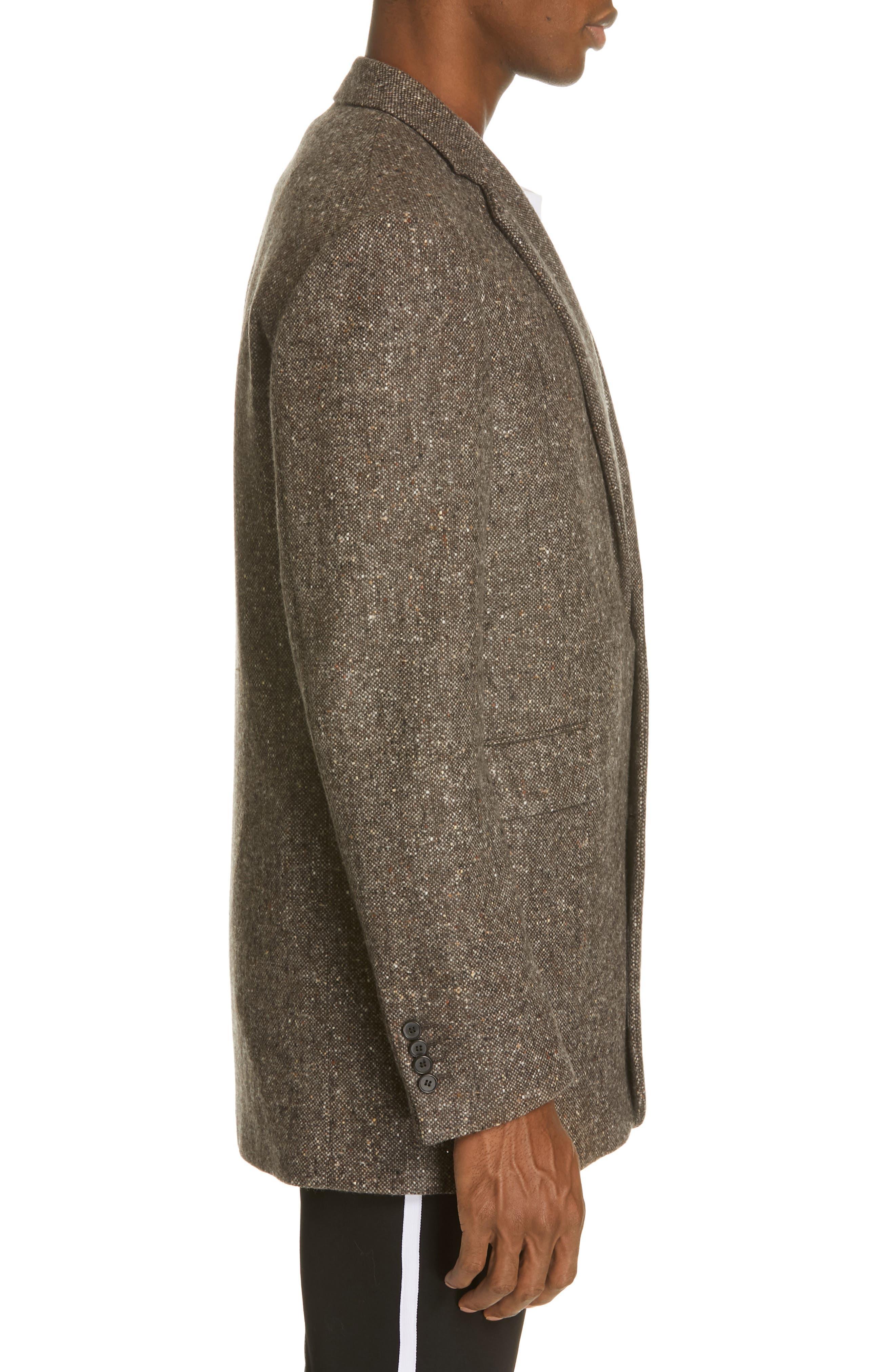 Tweed Wool Jacket,                             Alternate thumbnail 3, color,                             030
