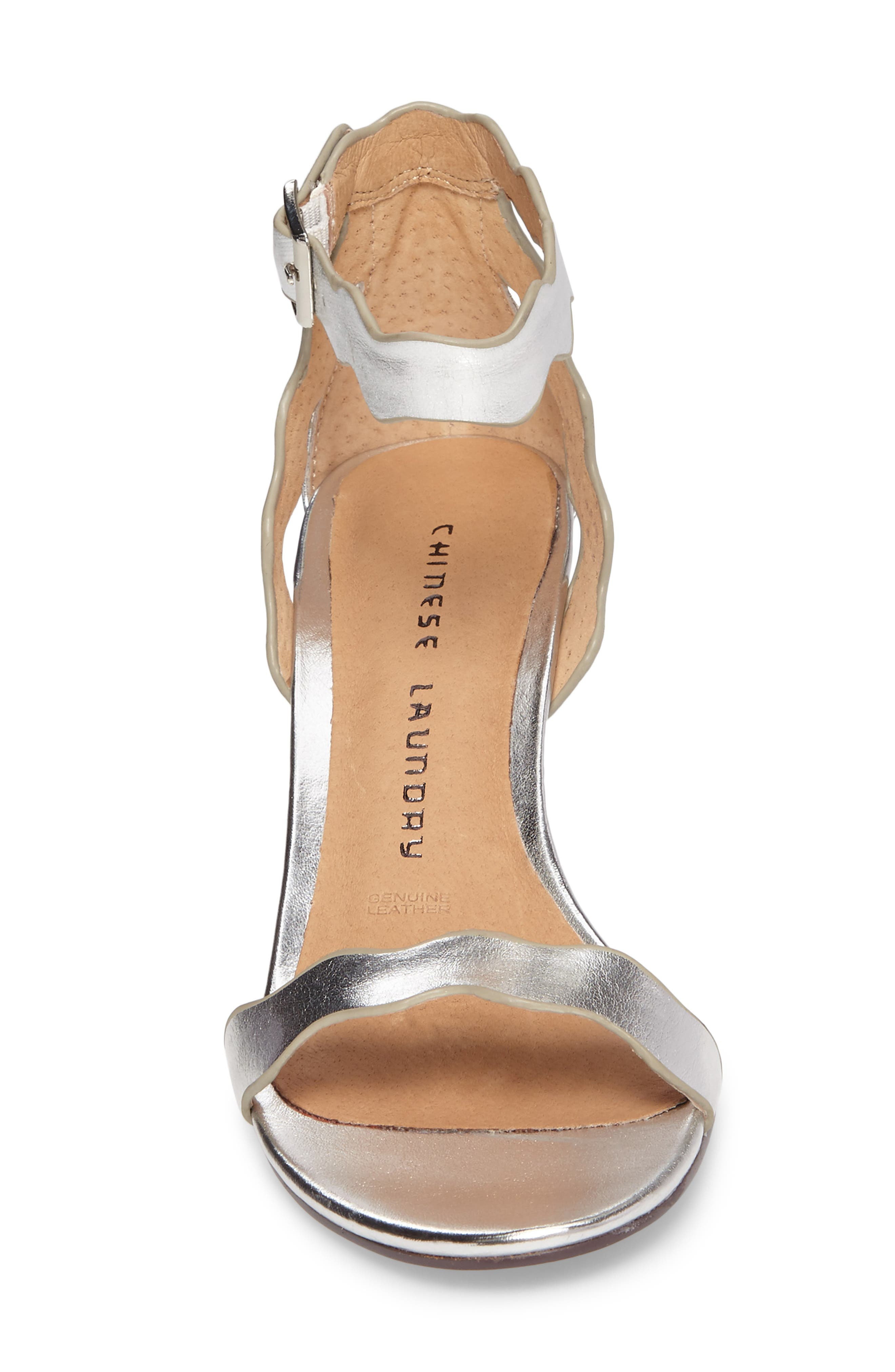 'Rubie' Scalloped Ankle Strap Sandal,                             Alternate thumbnail 4, color,                             040