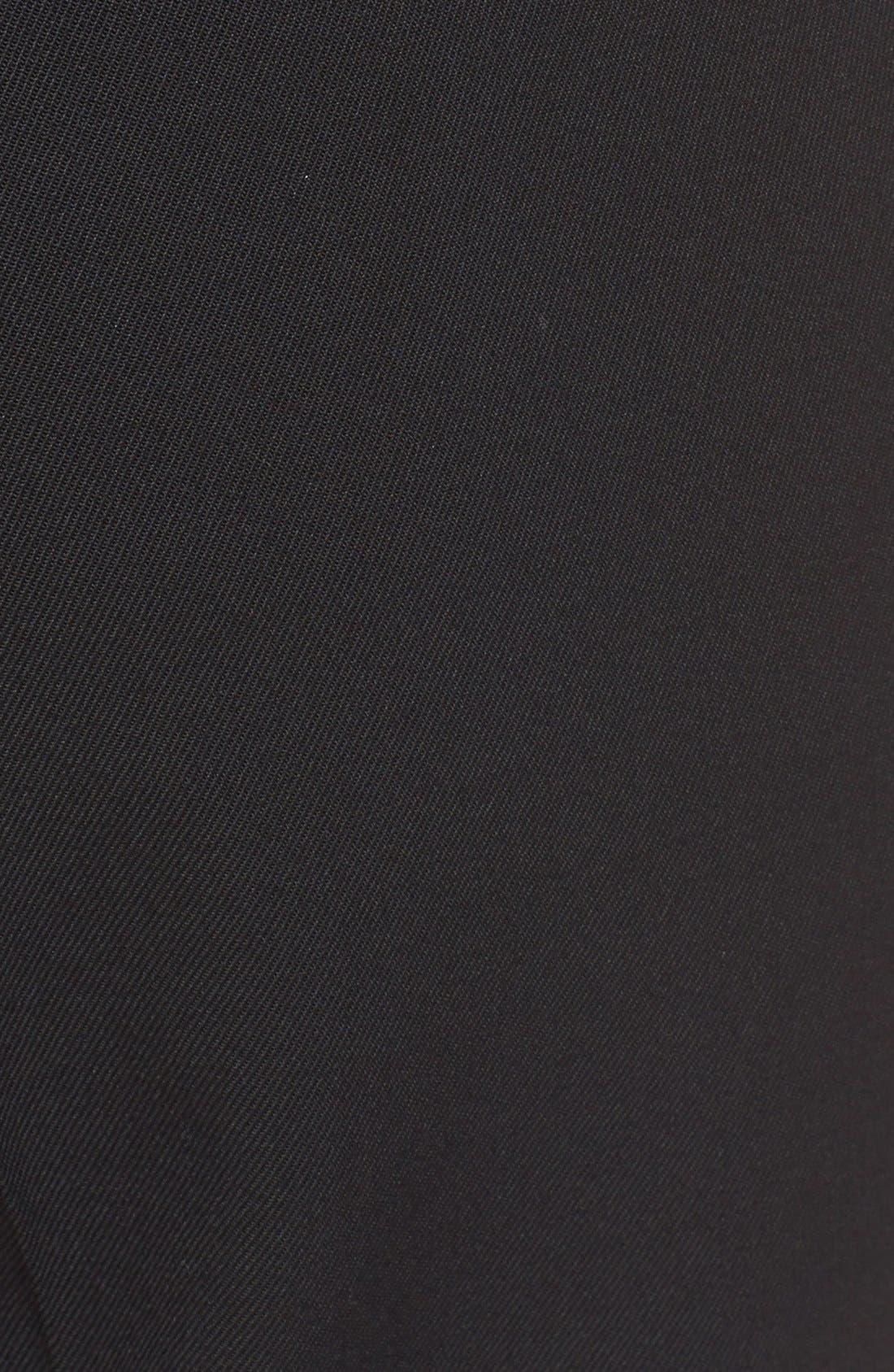 'Samantha' Stretch Wool Straight Leg Pants,                             Alternate thumbnail 6, color,                             BLACK