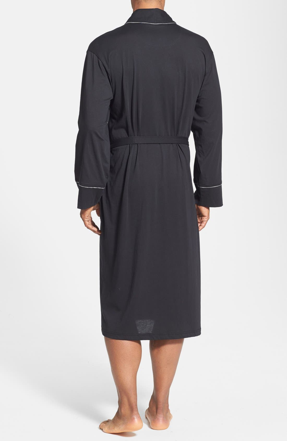 Peruvian Pima Cotton Robe,                             Alternate thumbnail 2, color,                             BLACK