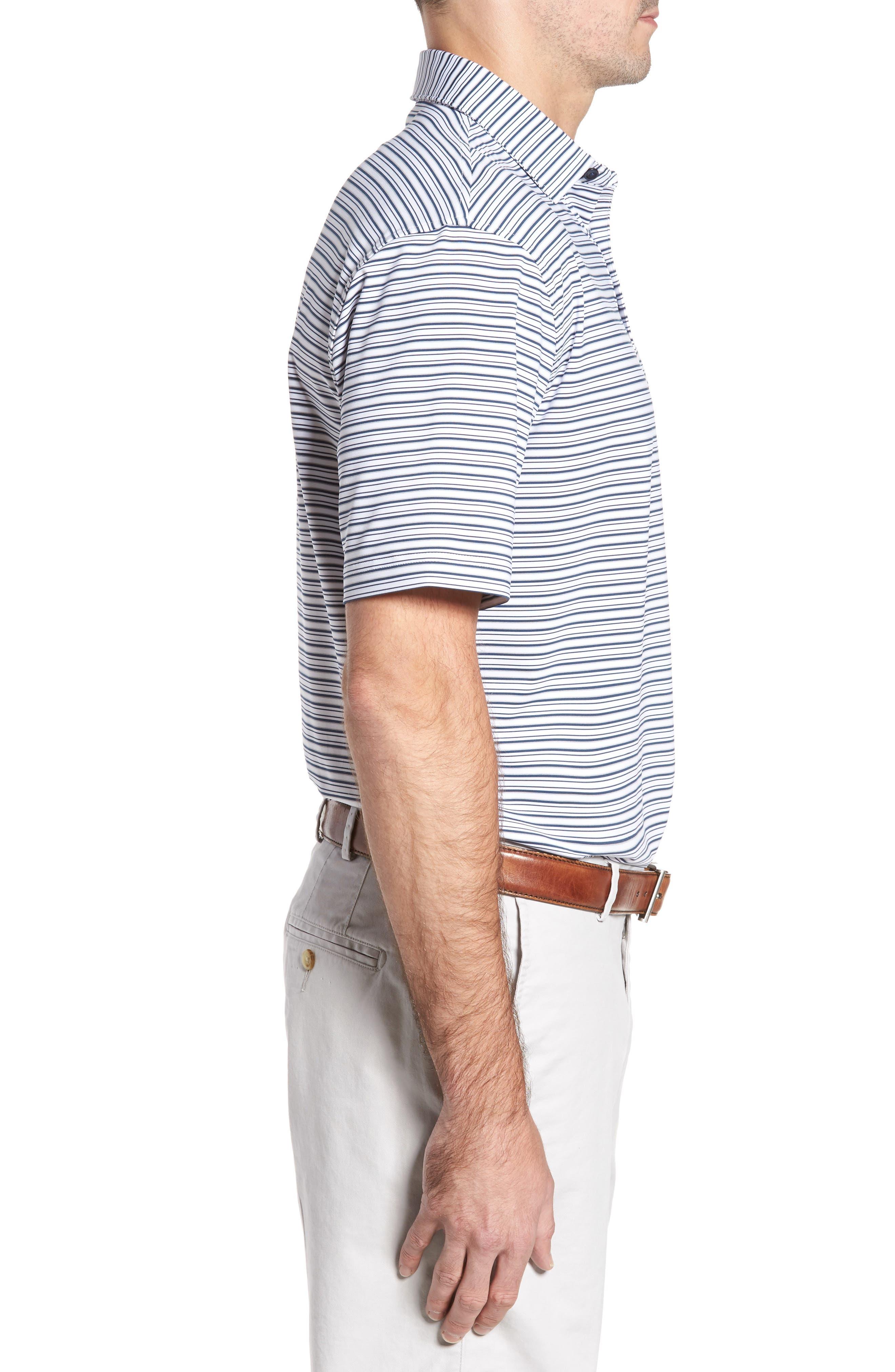 Barron Sean Stripe Jersey Polo,                             Alternate thumbnail 3, color,                             100