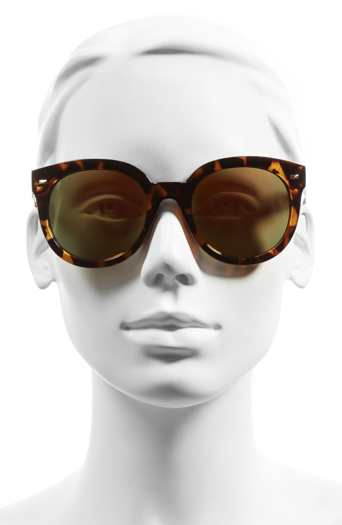 52mm Oversize Mirrored Sunglasses,                             Alternate thumbnail 4, color,
