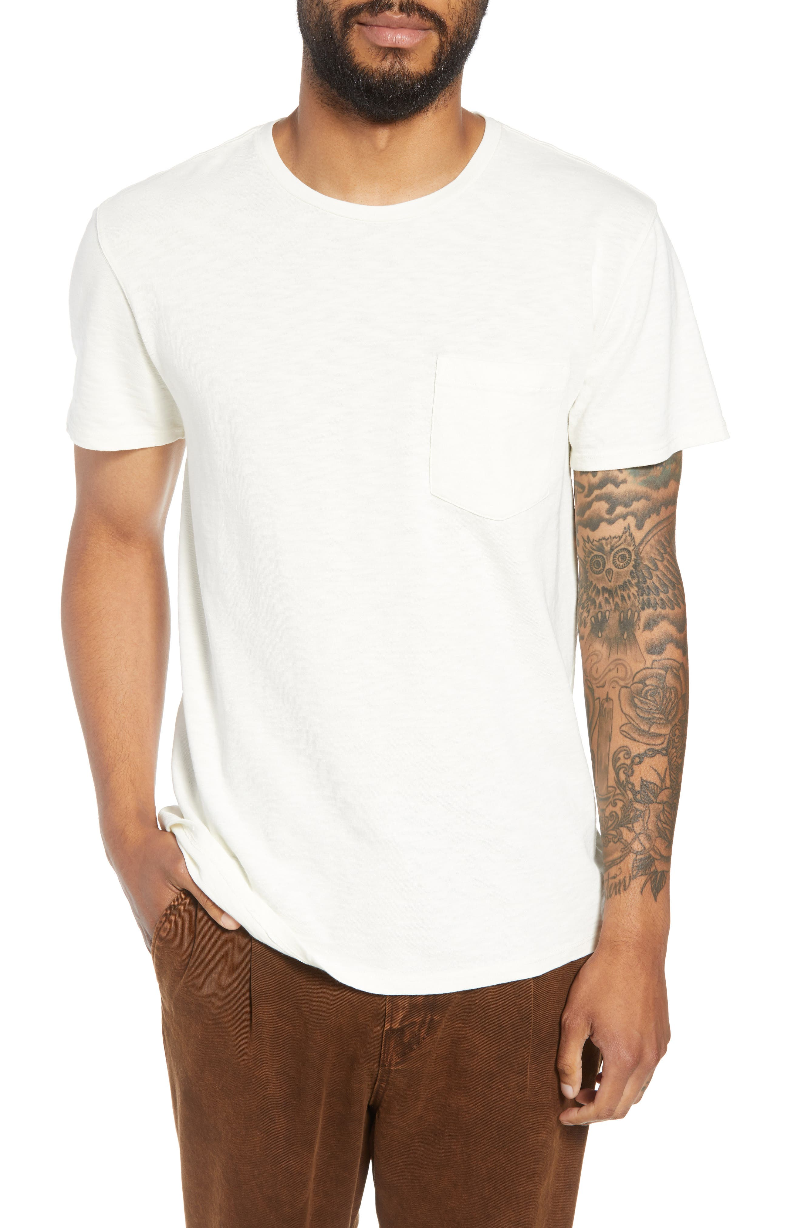 Pocket T-Shirt,                         Main,                         color, DIRTY WHITE