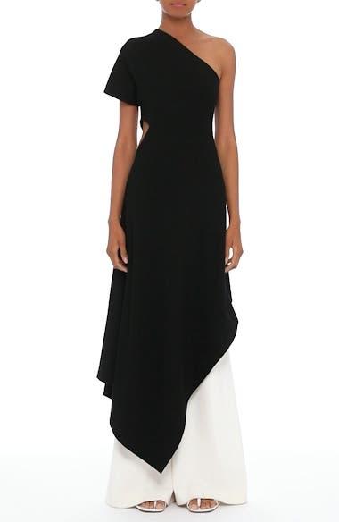 One-Shoulder Asymmetrical Jersey Dress, video thumbnail