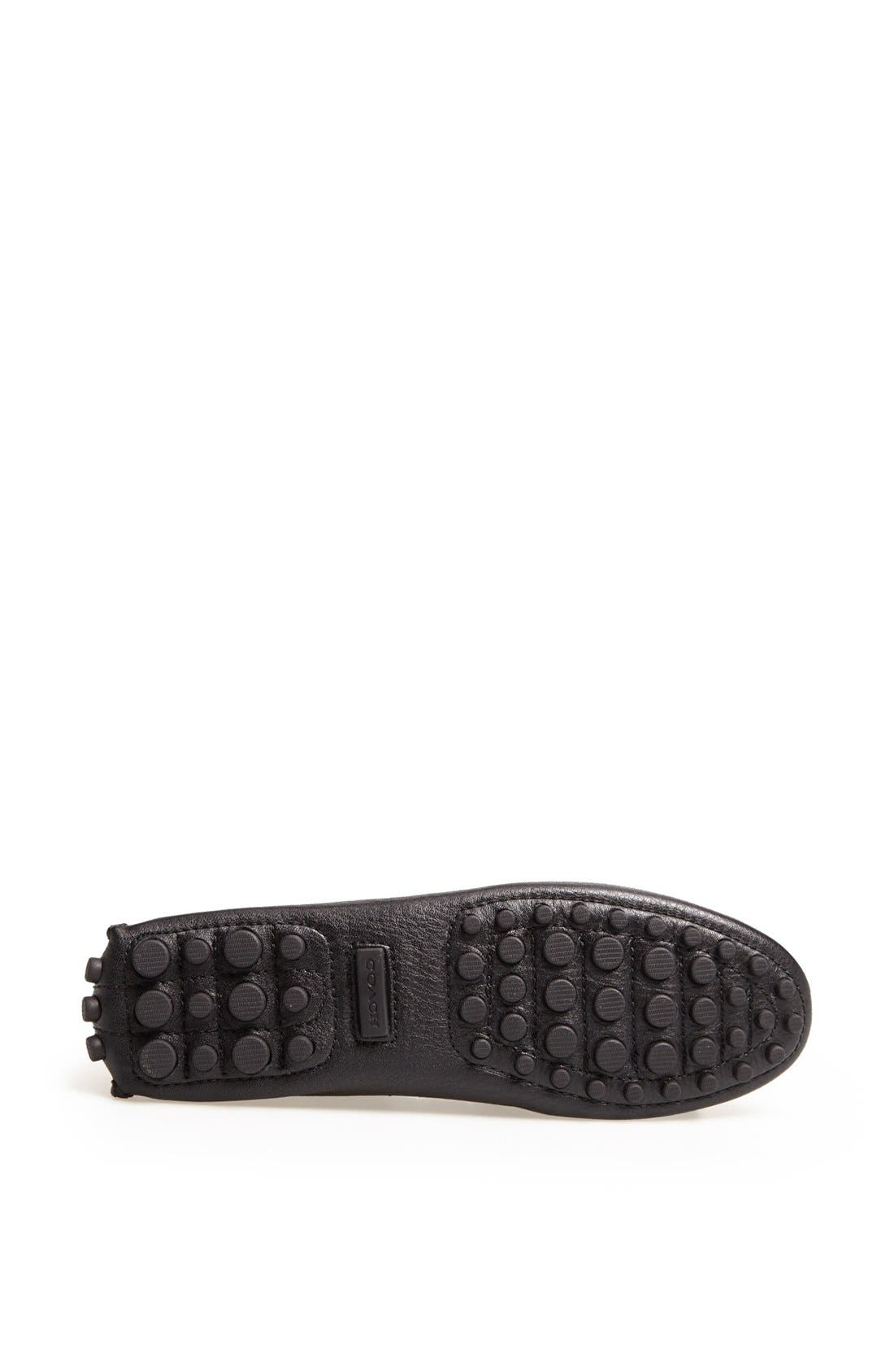 'Nadia' Leather Driving Loafer,                             Alternate thumbnail 4, color,                             001