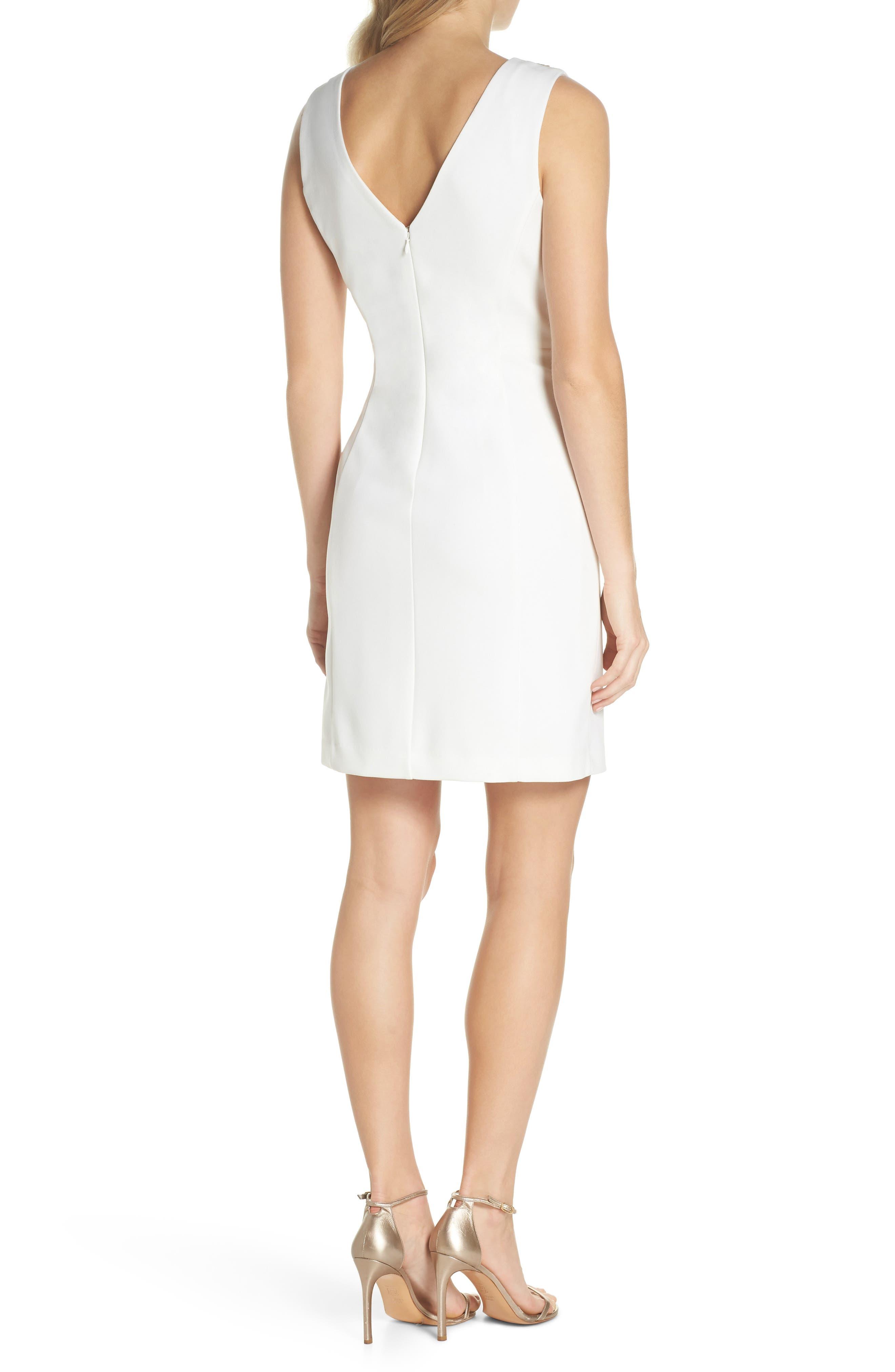 Beaded V-Neck Sheath Dress,                             Alternate thumbnail 2, color,                             900