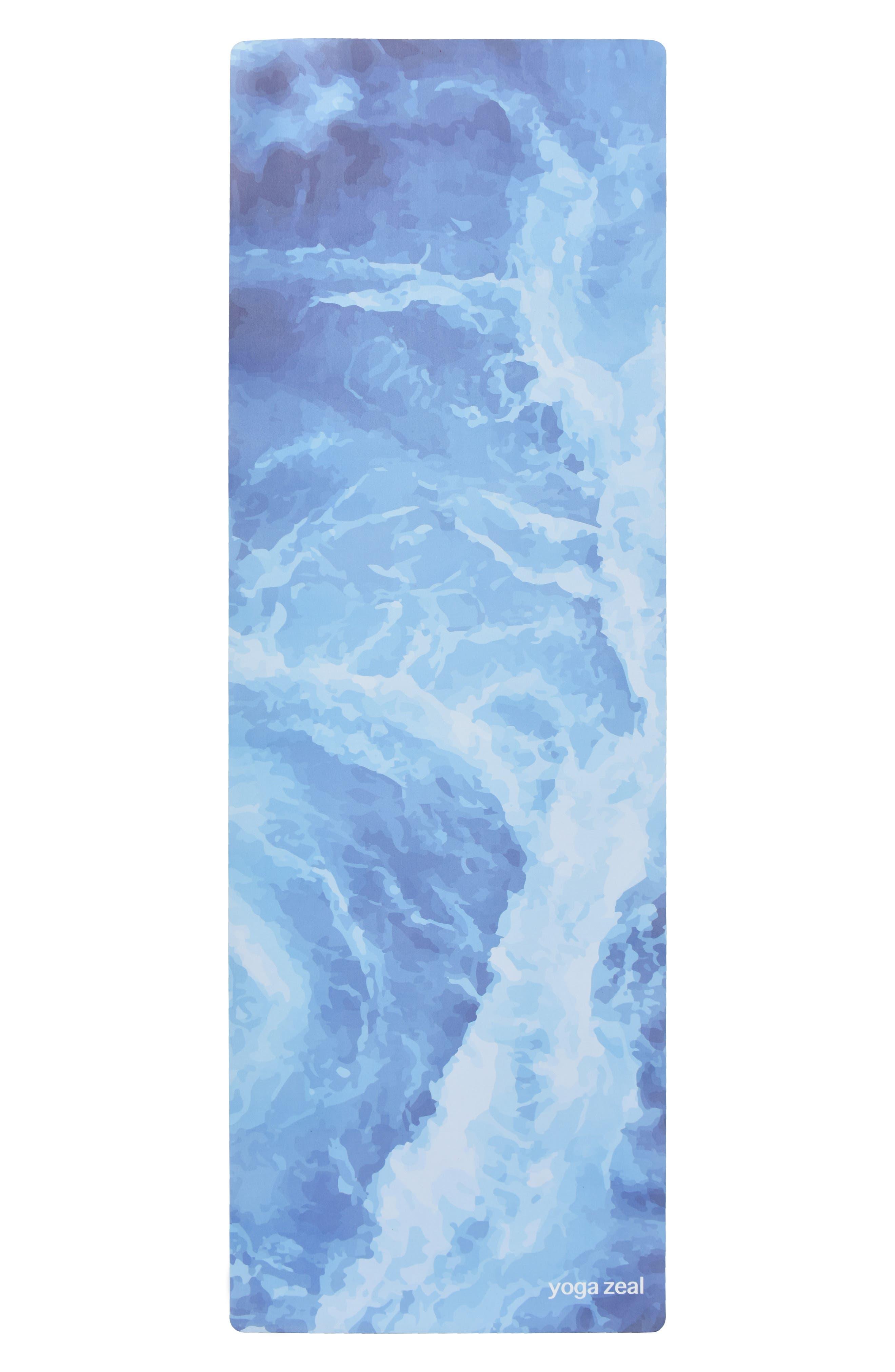 Ocean Print Yoga Mat,                         Main,                         color, BLUE