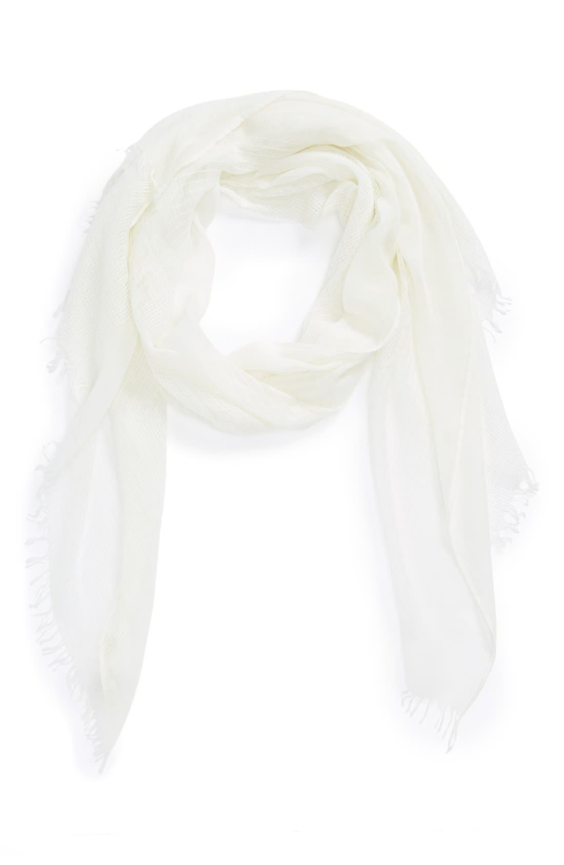 MICHAEL STARS 'Cool Breeze' Woven Scarf, Main, color, 100
