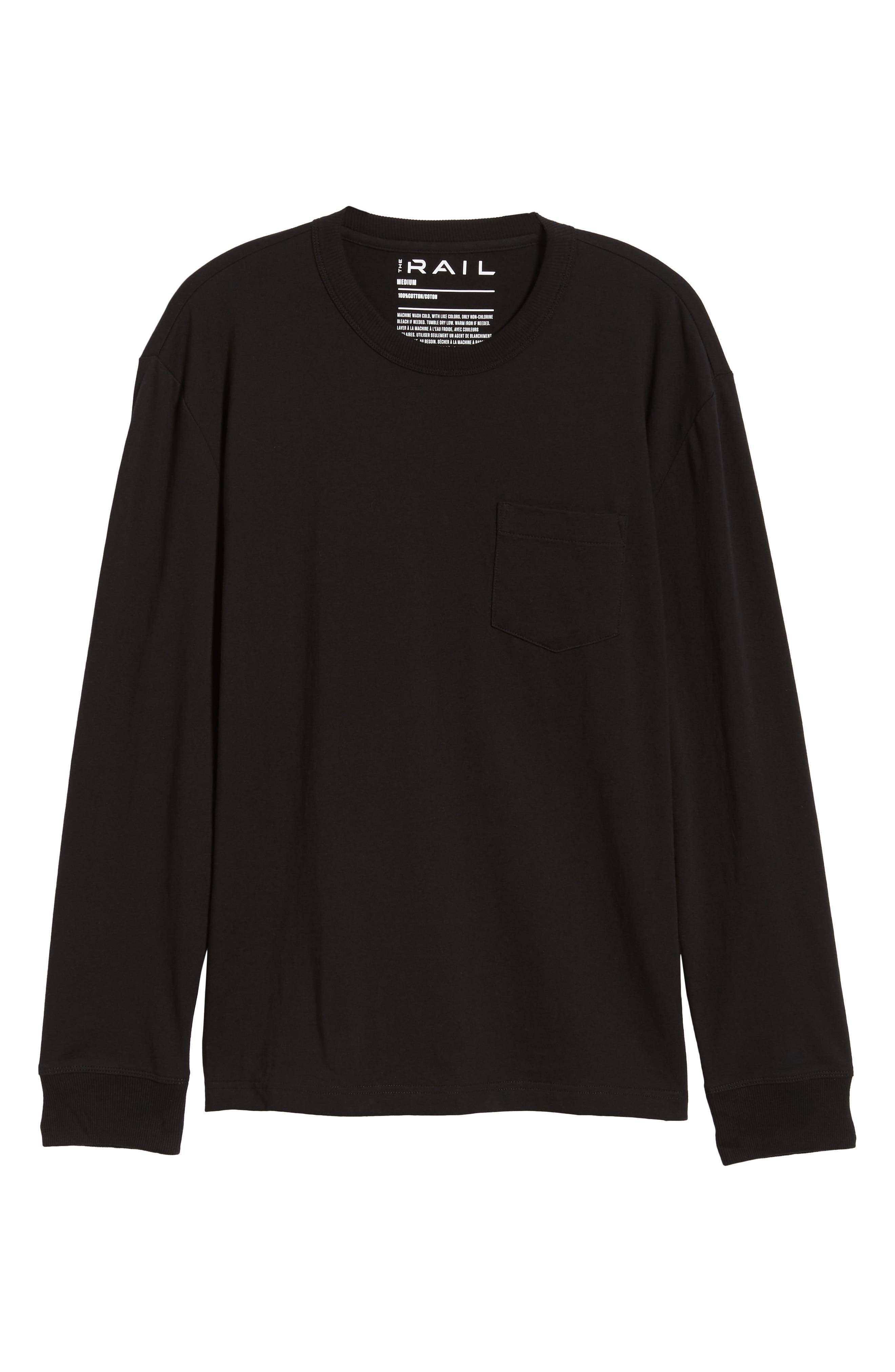 Long Sleeve Pocket T-Shirt,                             Alternate thumbnail 6, color,                             001
