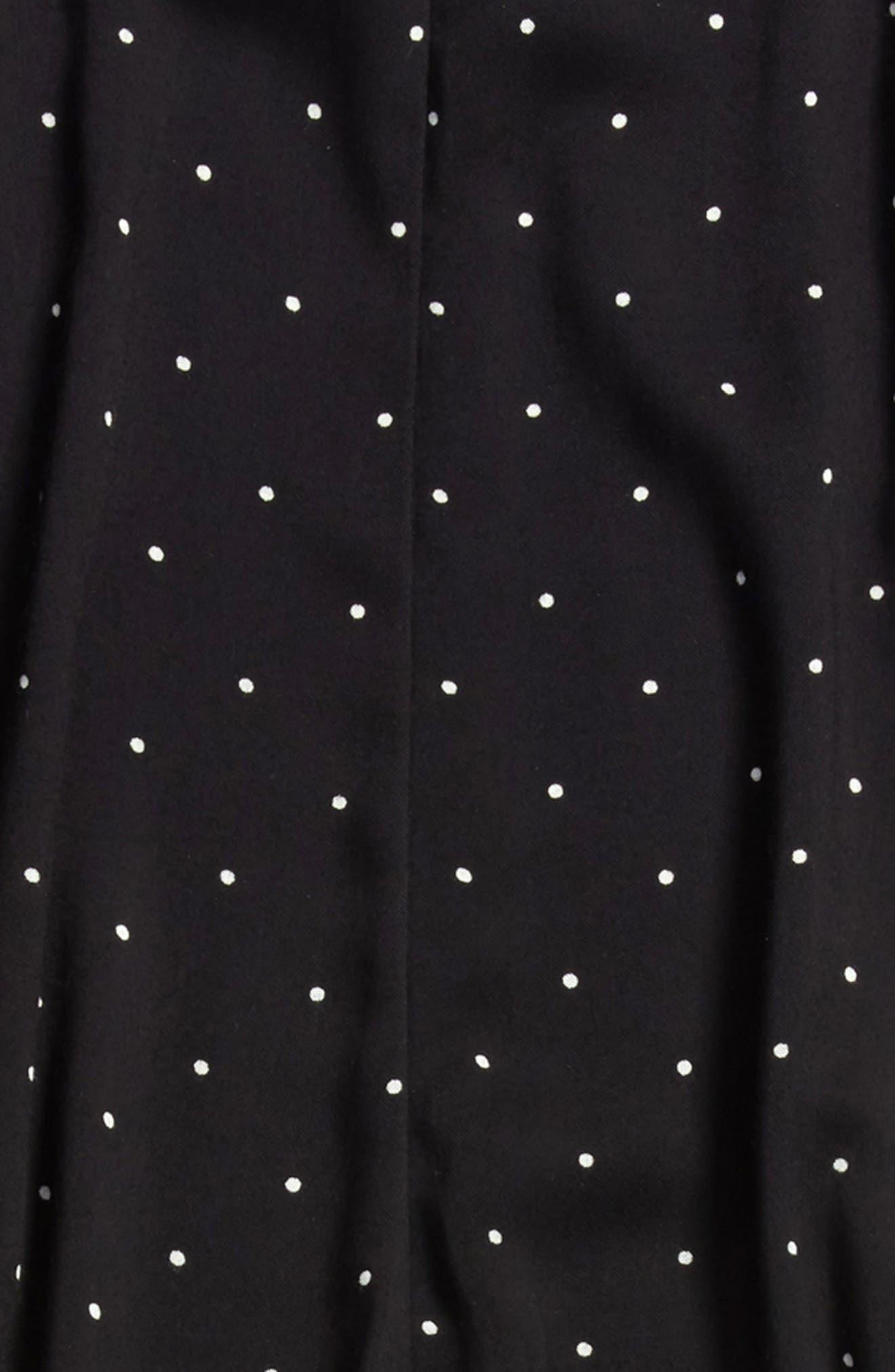 Ruffle Halter Jumpsuit,                             Alternate thumbnail 2, color,                             BLACK- WHITE DOT