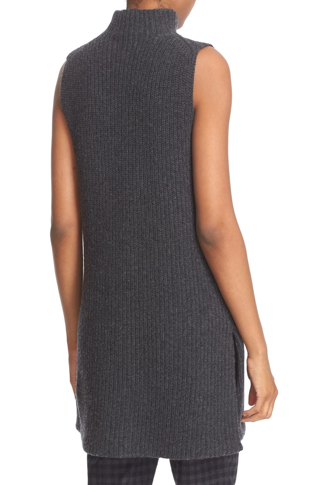 THEORY,                             'Embree Charmant' Sleeveless Wool & Cashmere Mock Neck Tunic Sweater,                             Alternate thumbnail 5, color,                             200