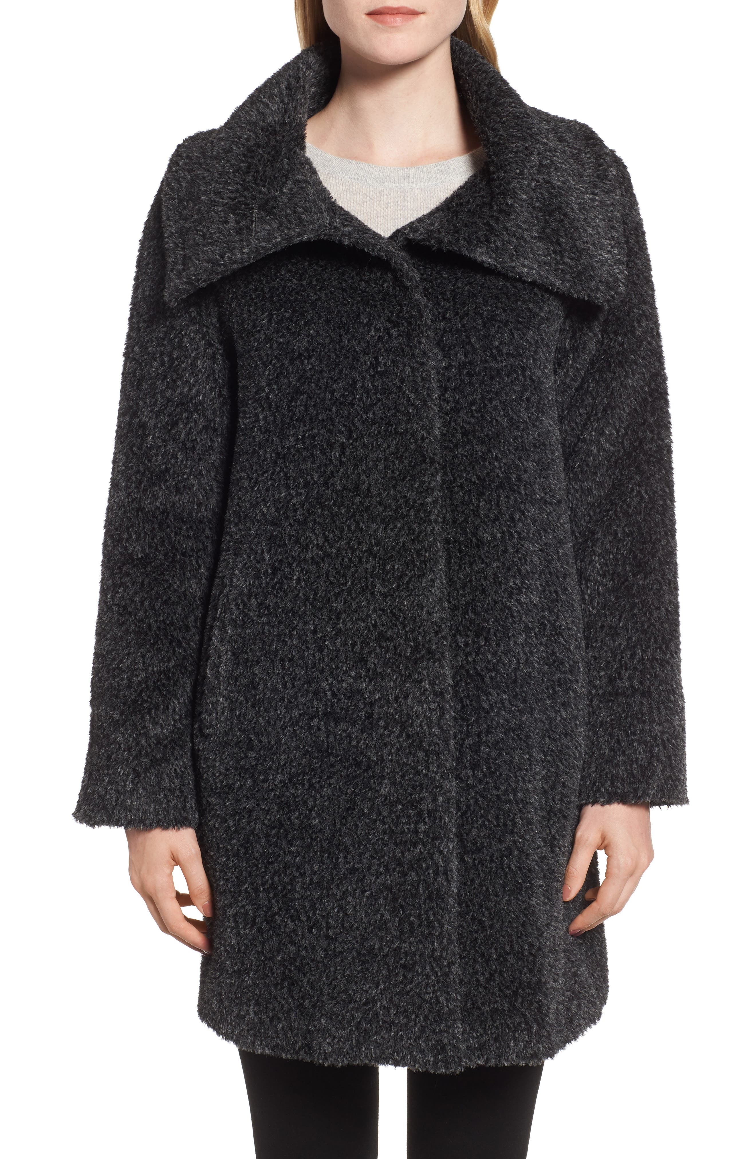 MAX MARA STUDIO,                             Gregory Alpaca & Wool Coat,                             Alternate thumbnail 4, color,                             023