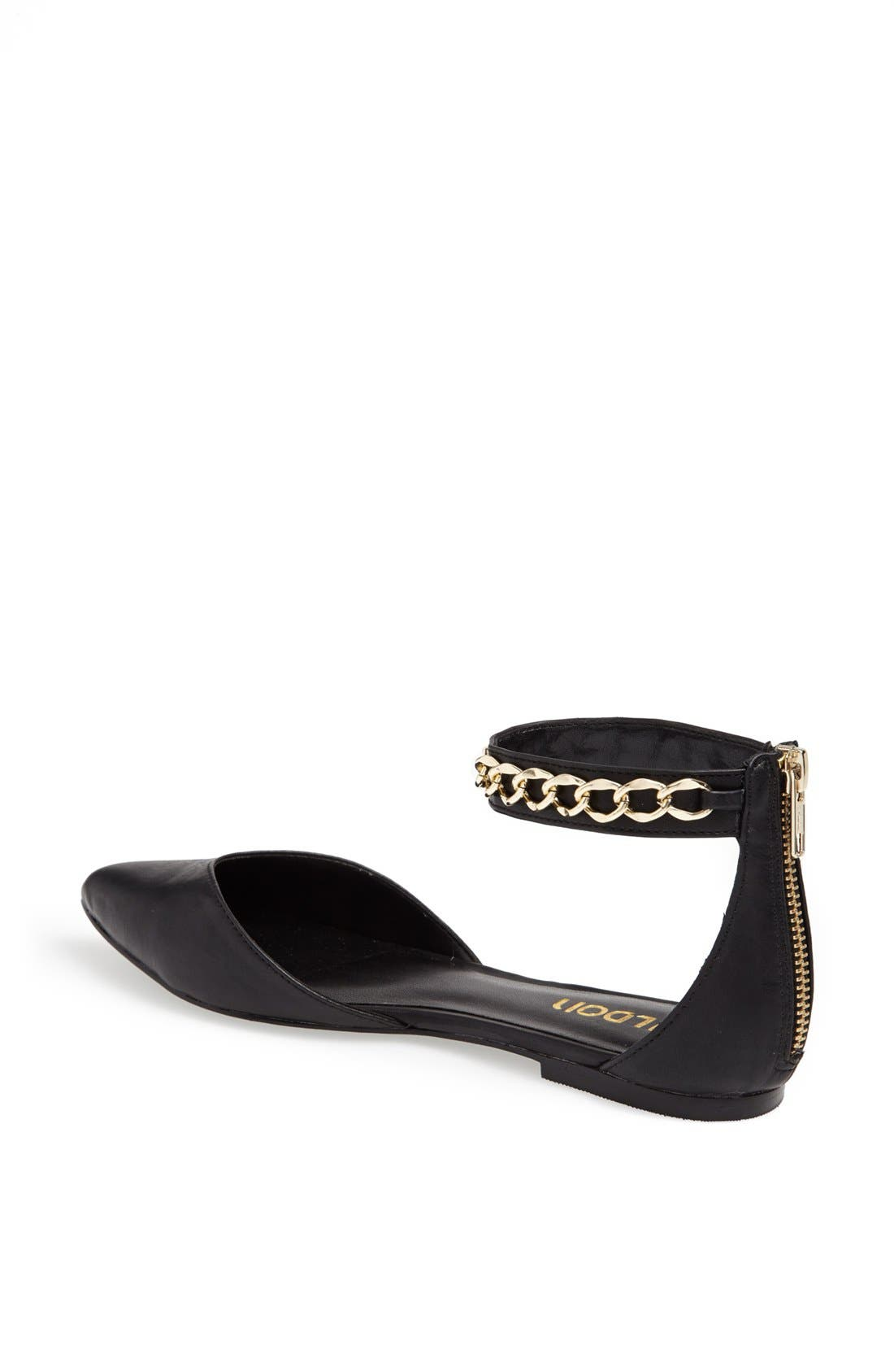 'Anya' Ankle Strap D'Orsay Flat,                             Alternate thumbnail 9, color,