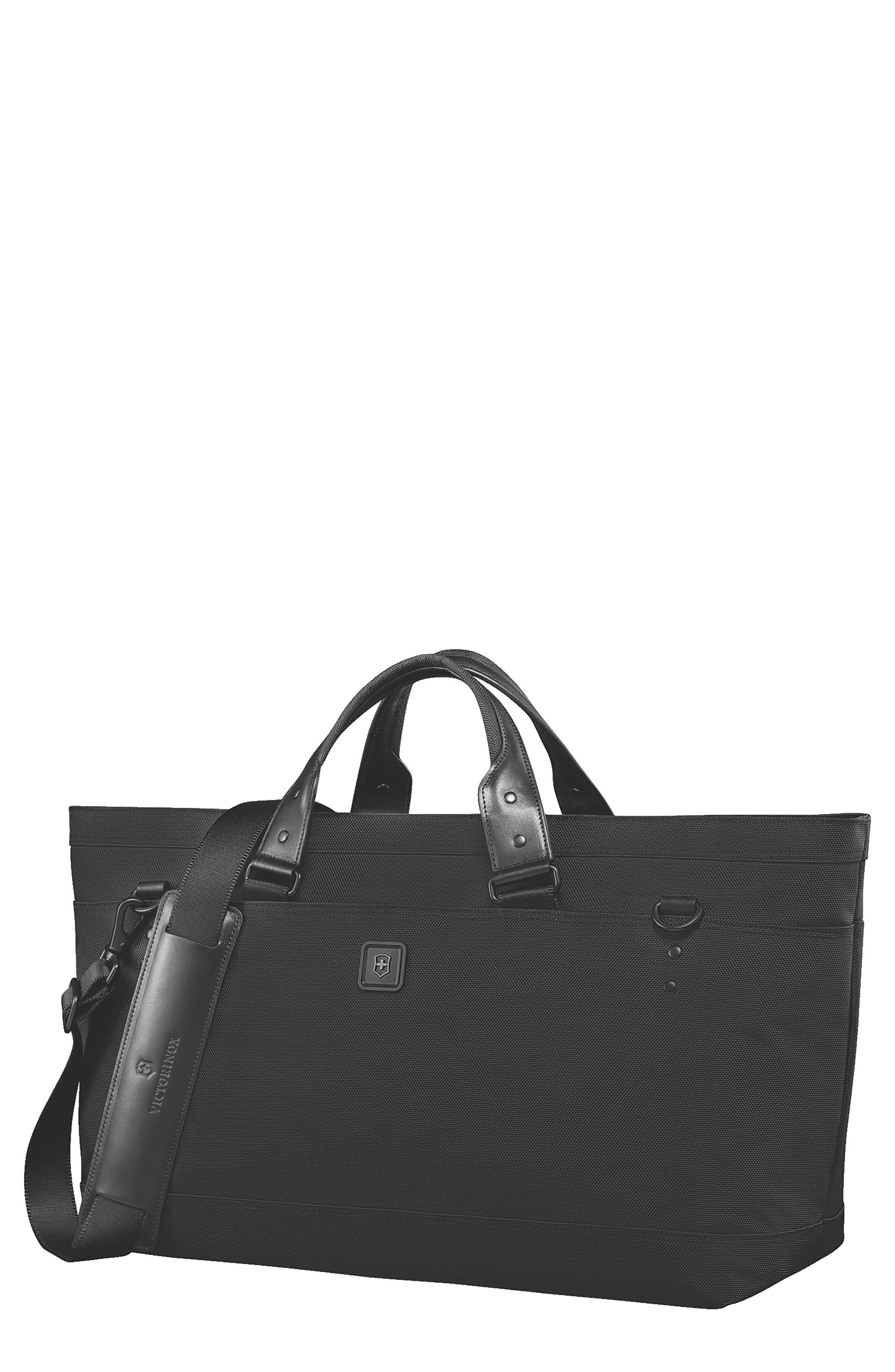 VICTORINOX SWISS ARMY<SUP>®</SUP>,                             Lexicon 2.0 Deluxe Tote Bag,                             Main thumbnail 1, color,                             BLACK