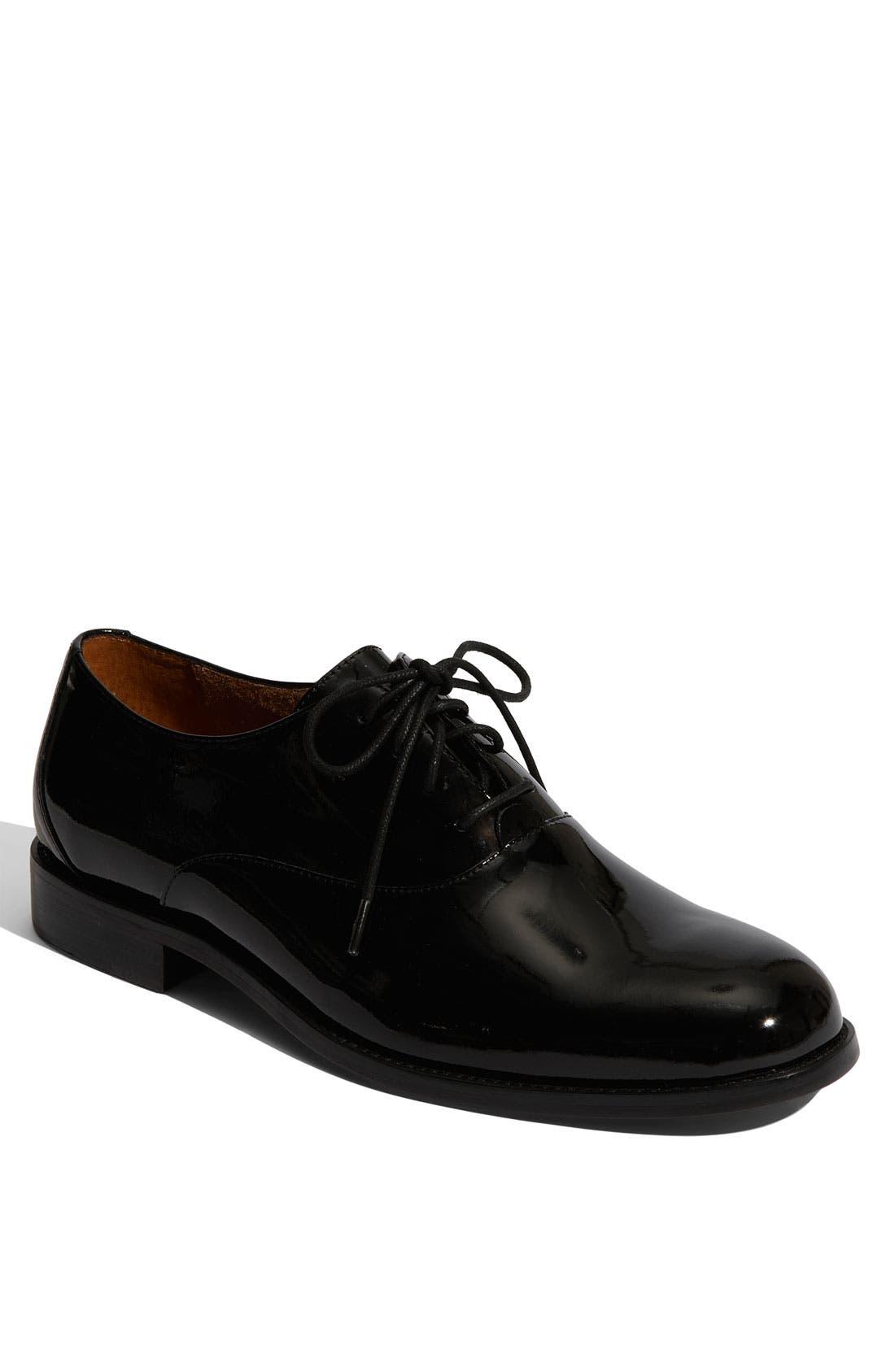 'Kingston' Patent Leather Oxford,                             Main thumbnail 1, color,                             002