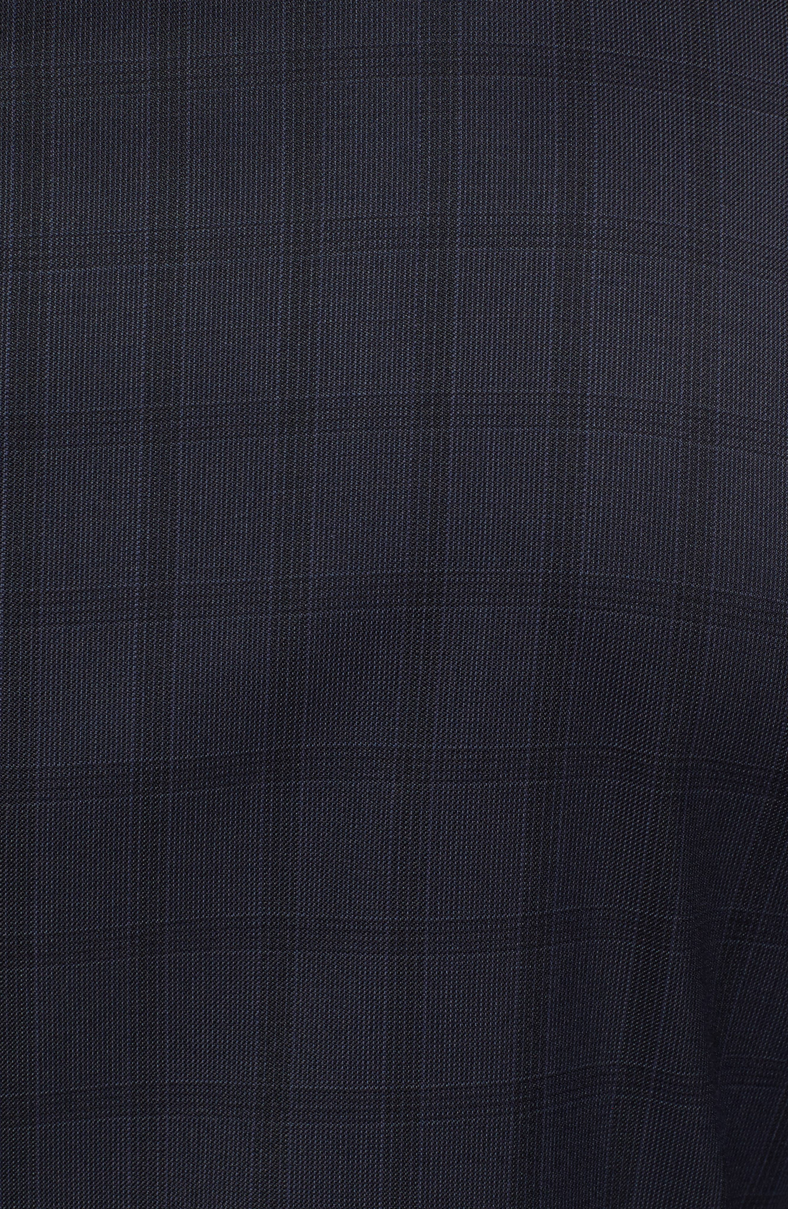 Jay Trim Fit Check Wool Suit,                             Alternate thumbnail 7, color,                             410
