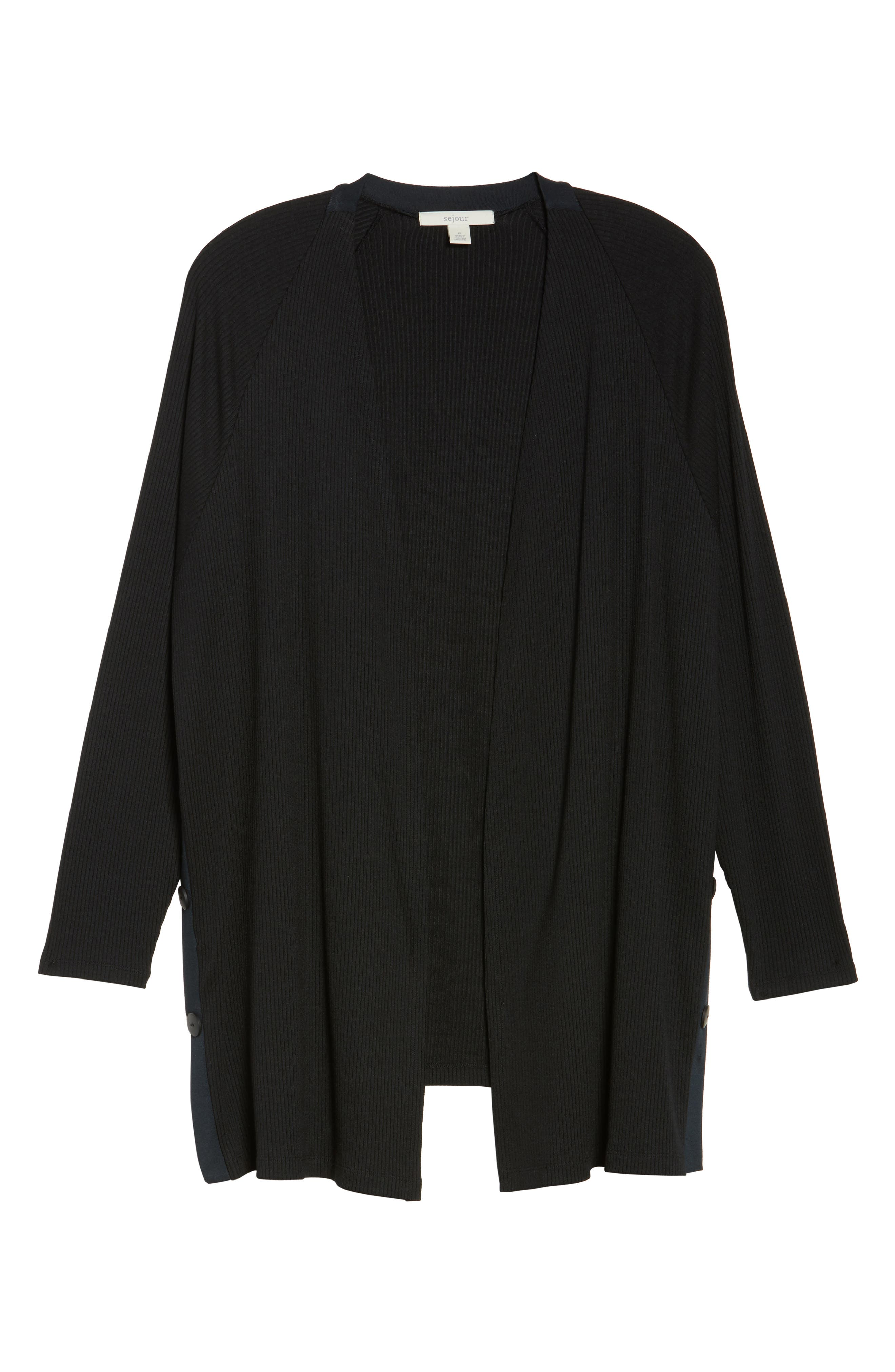 Easy Long Open Front Cardigan,                             Alternate thumbnail 6, color,                             001