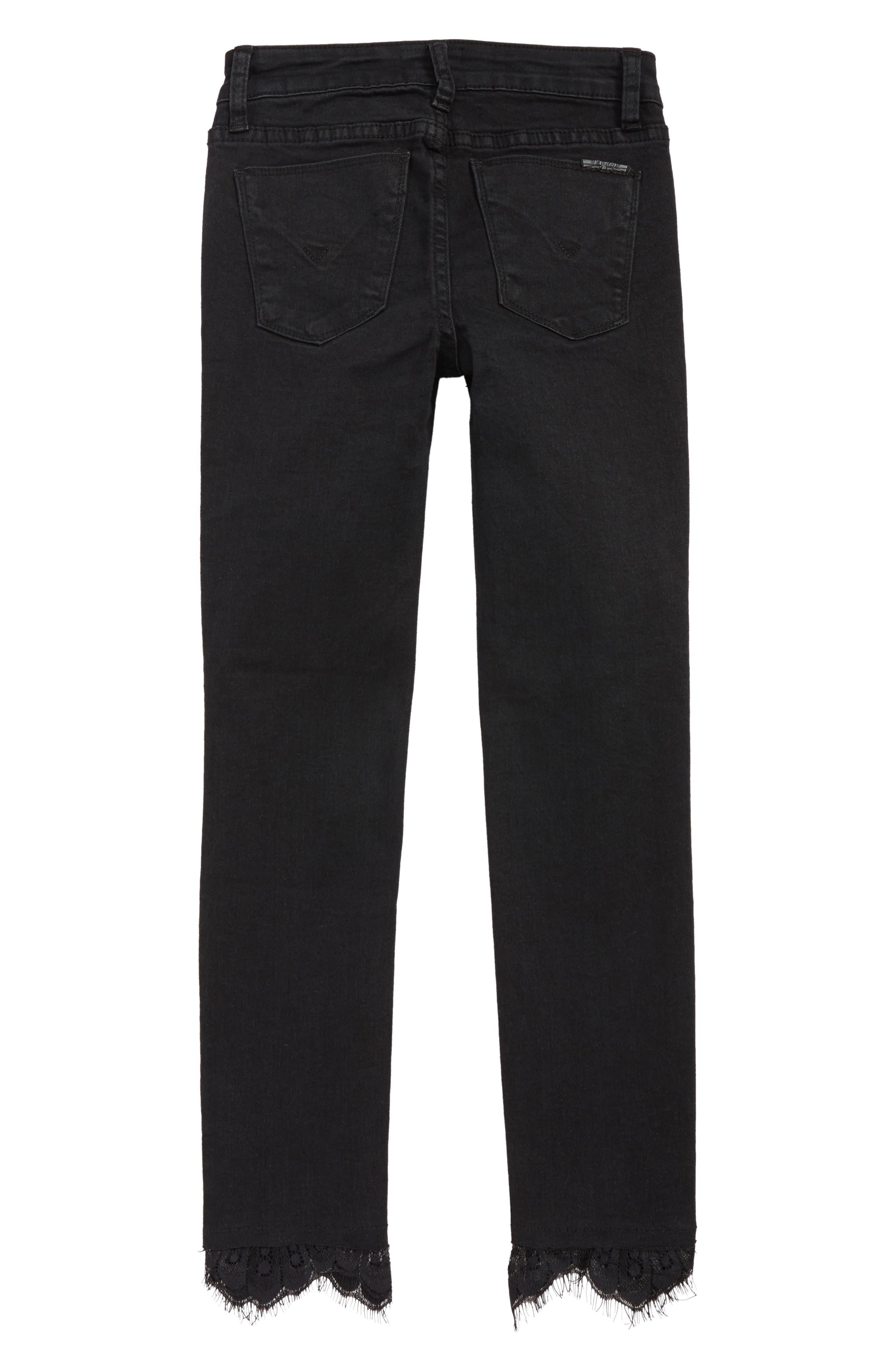Lacy Crop Jeans,                             Alternate thumbnail 2, color,                             JET-JET BLACK