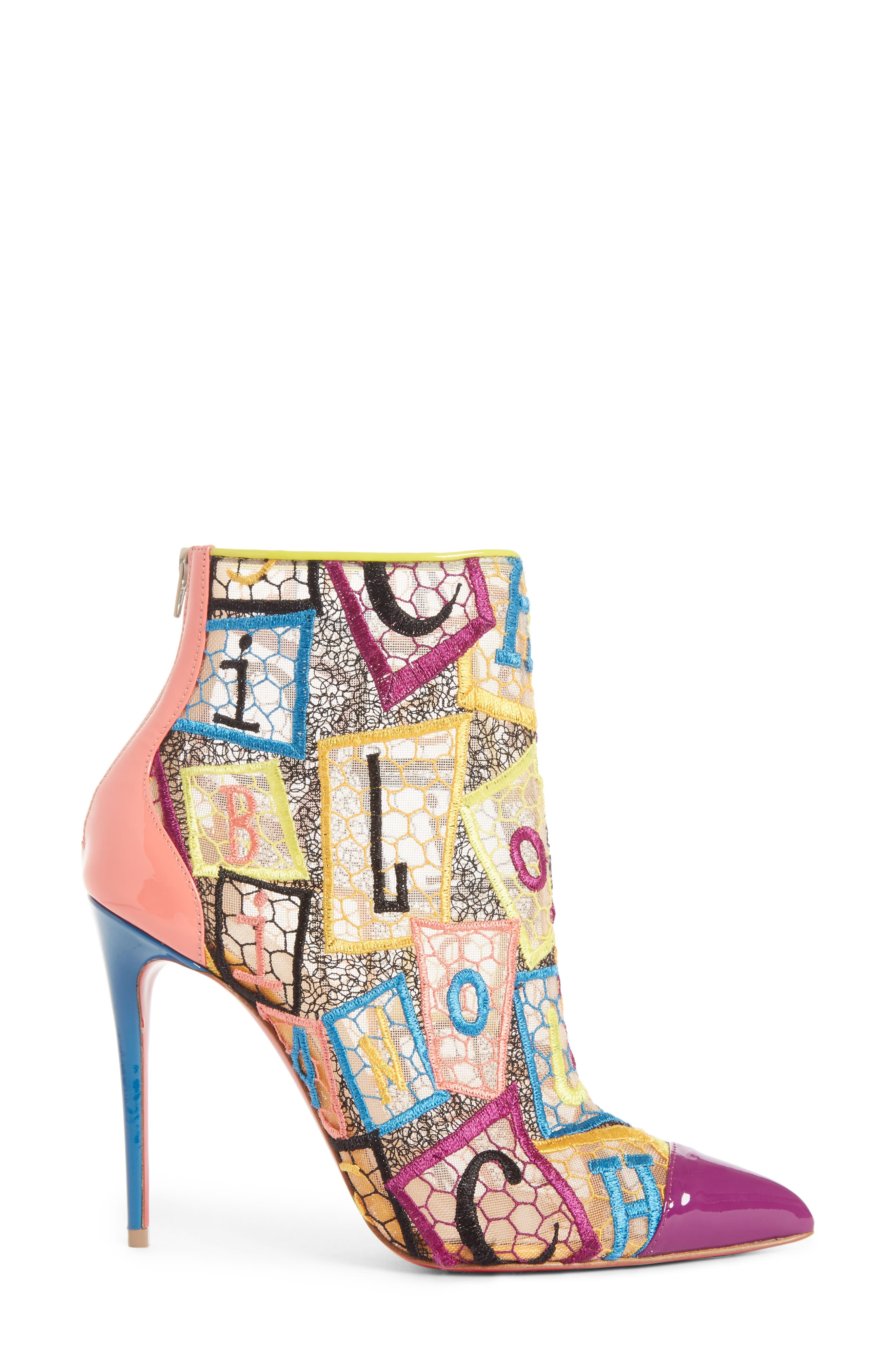 Alphaloubi Gipsy Bootie,                             Alternate thumbnail 3, color,                             PINK MULTI