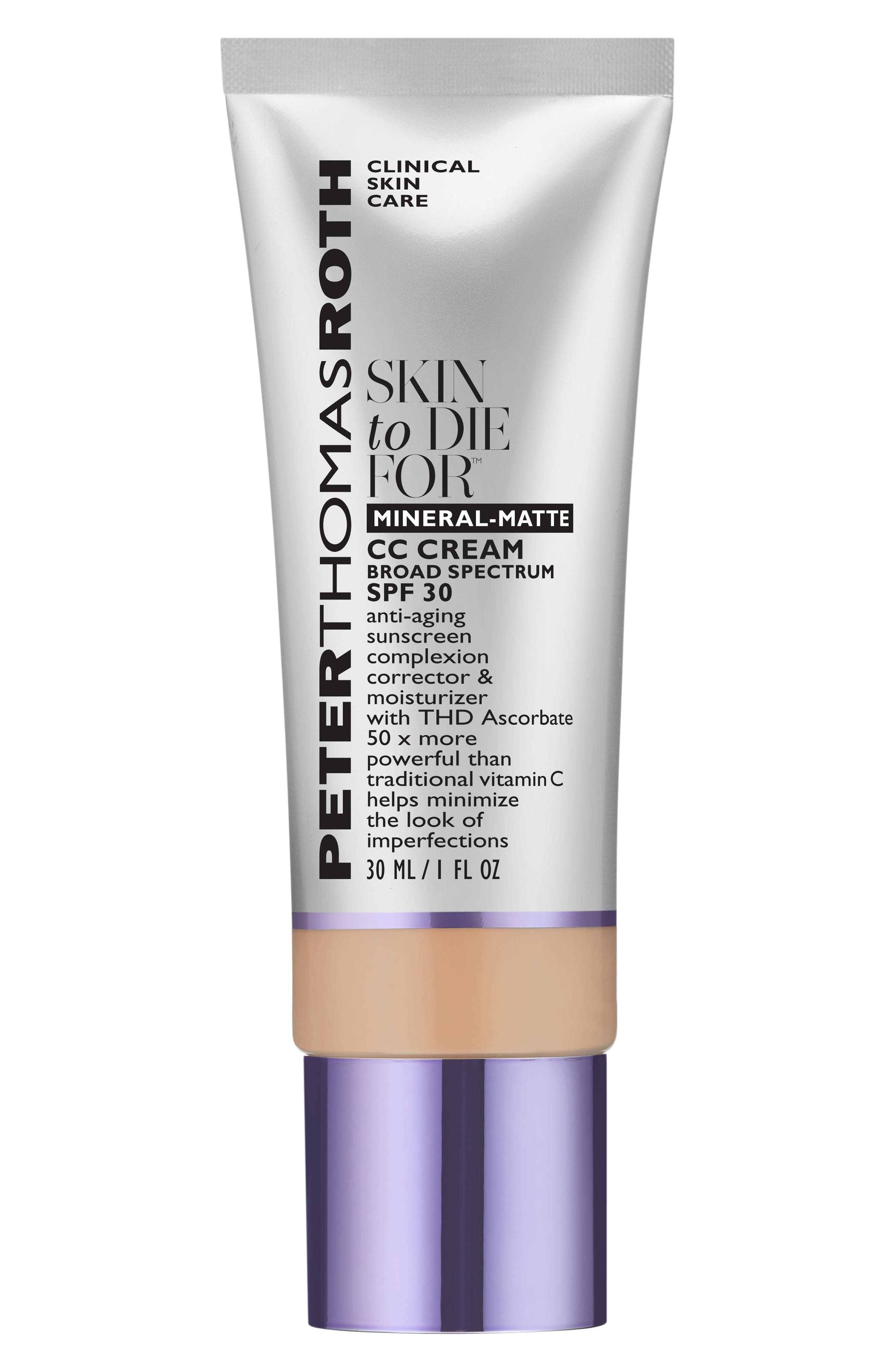 Skin to Die For Natural Matte Skin Perfecting CC Cream SPF 30,                             Main thumbnail 1, color,                             LIGHT