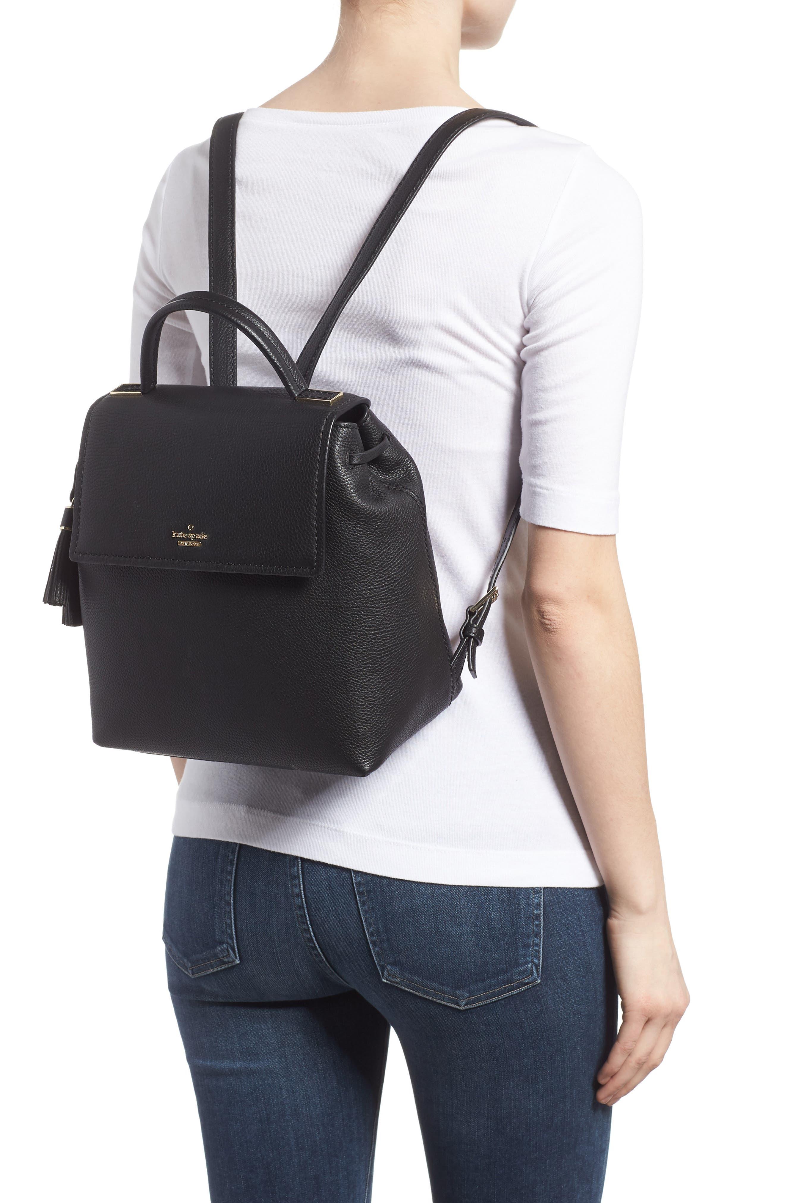kingston drive - simona leather backpack,                             Alternate thumbnail 2, color,                             001