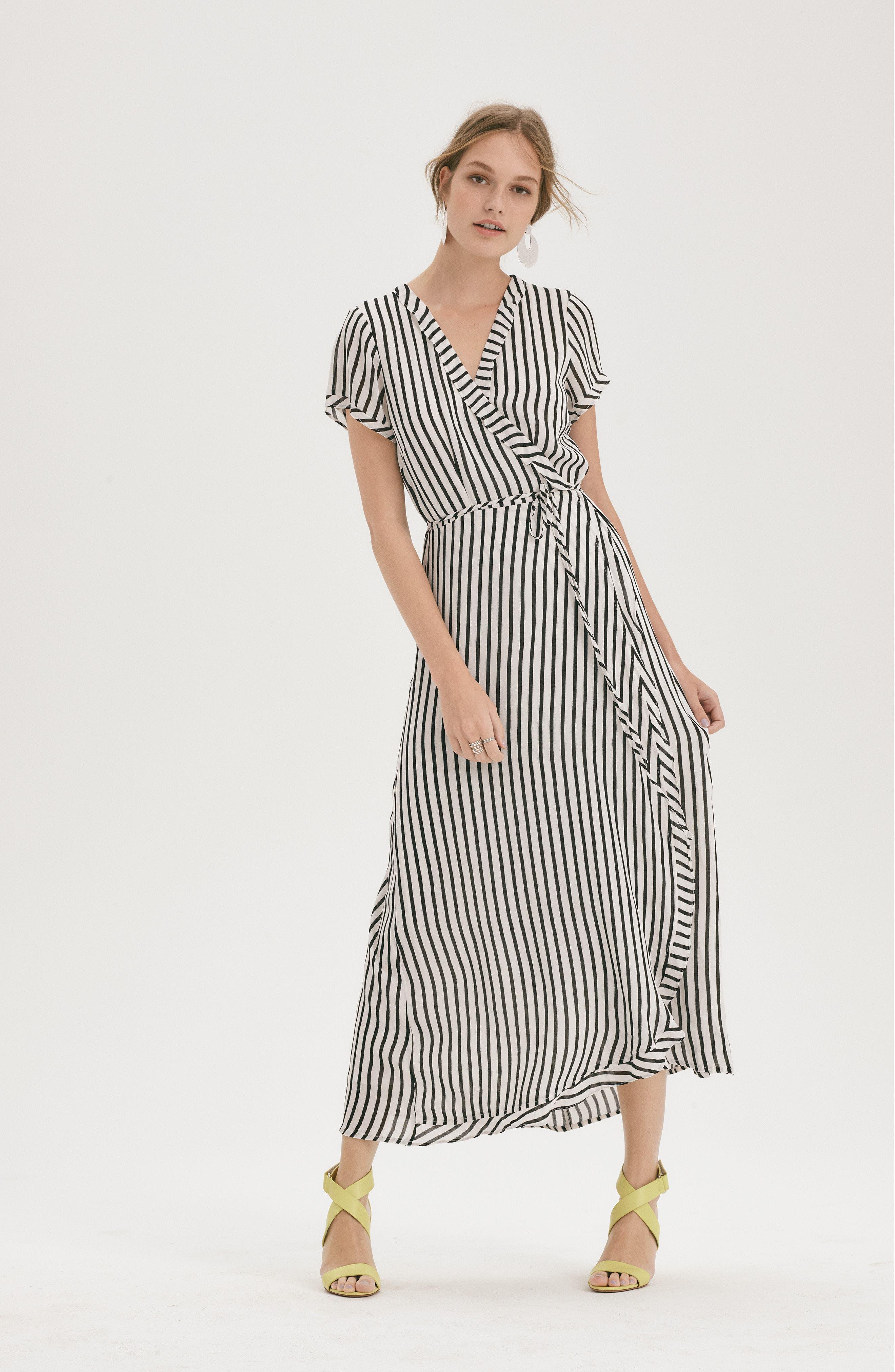 Adie Maxi Wrap Dress,                             Alternate thumbnail 13, color,                             013