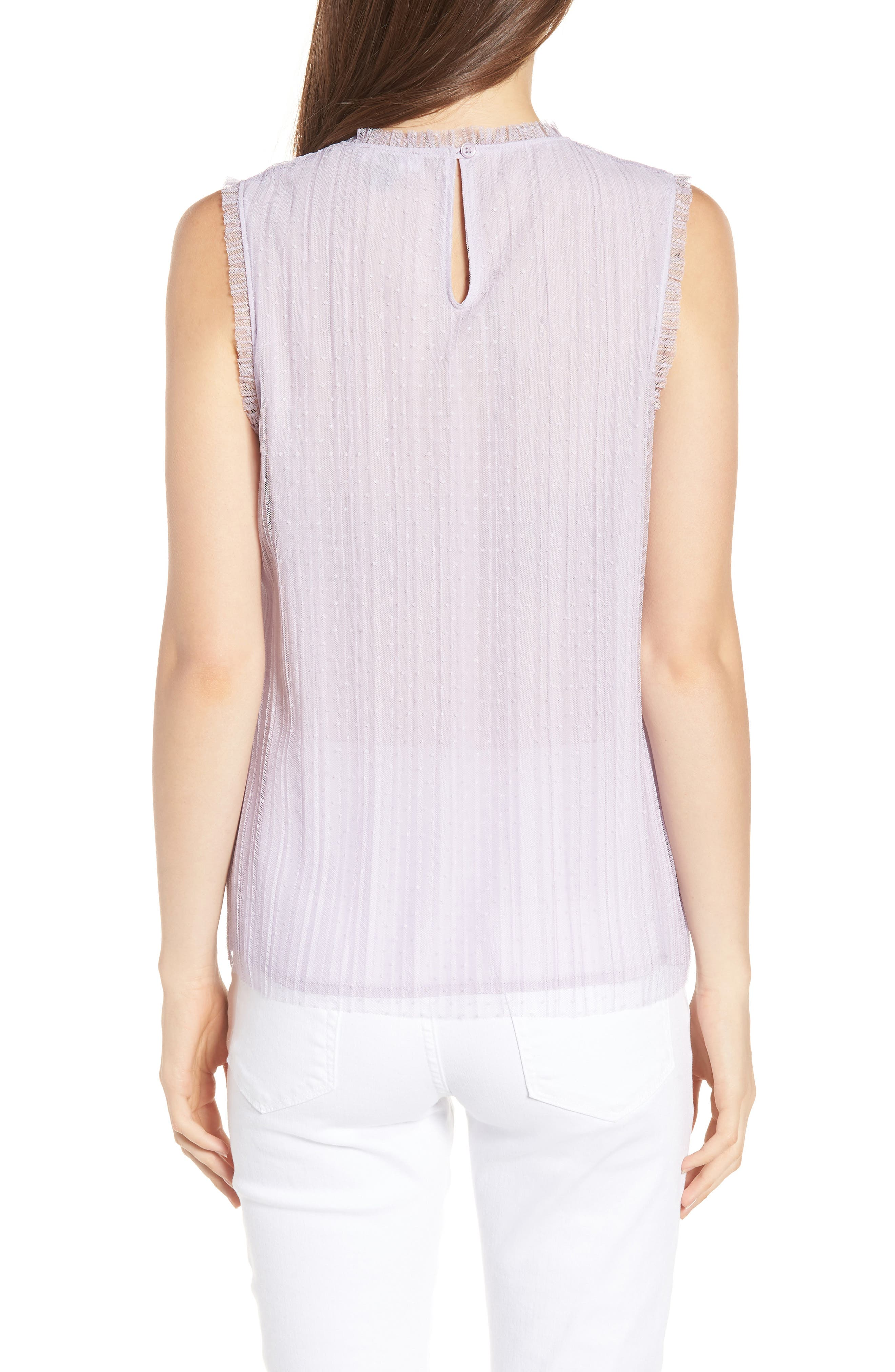 Dotted Mesh Top,                             Alternate thumbnail 6, color,