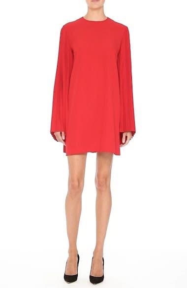 Pleated Sleeve Crepe Cady Dress, video thumbnail