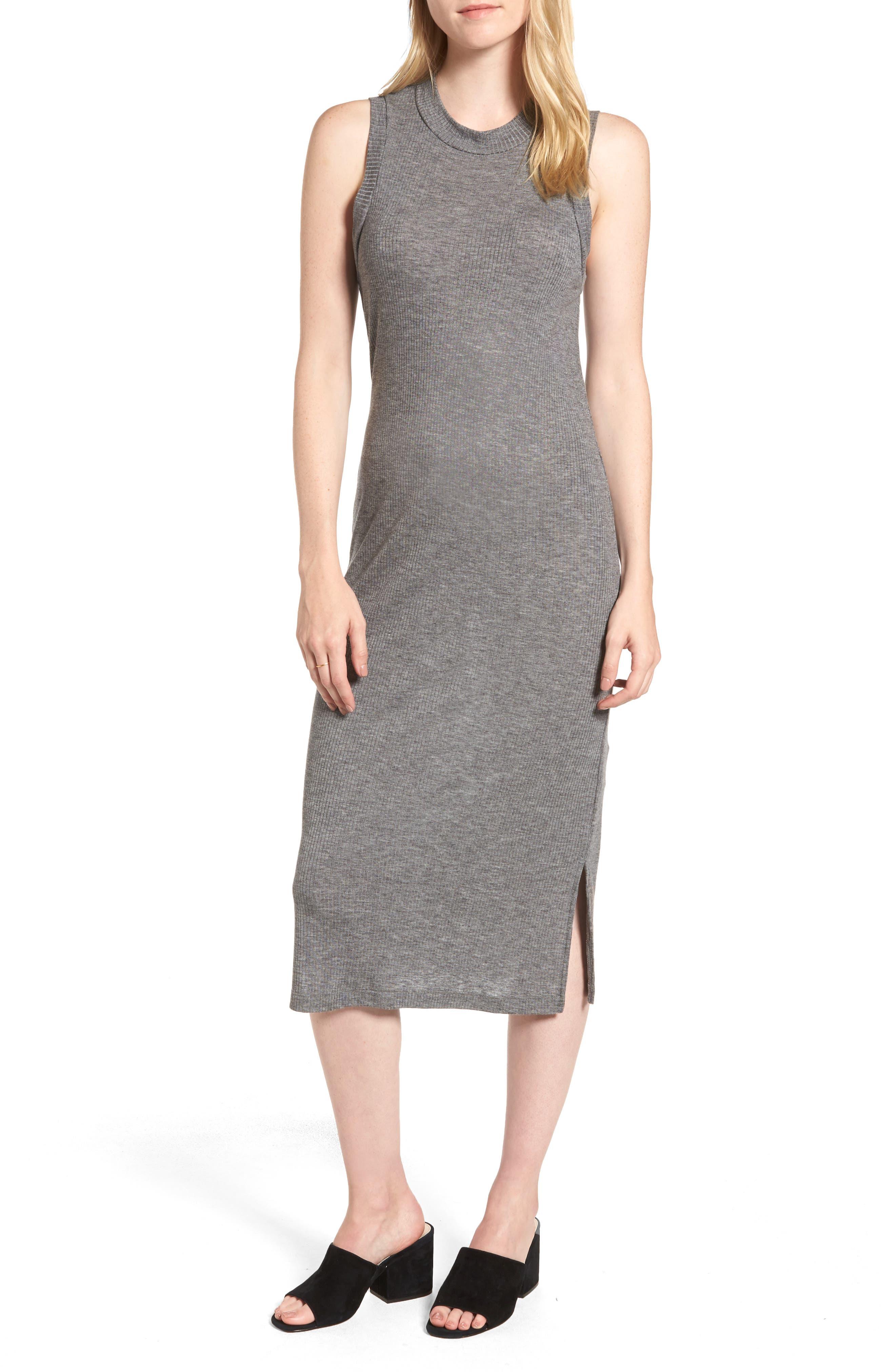 Mock Neck Midi Dress, Main, color, 021