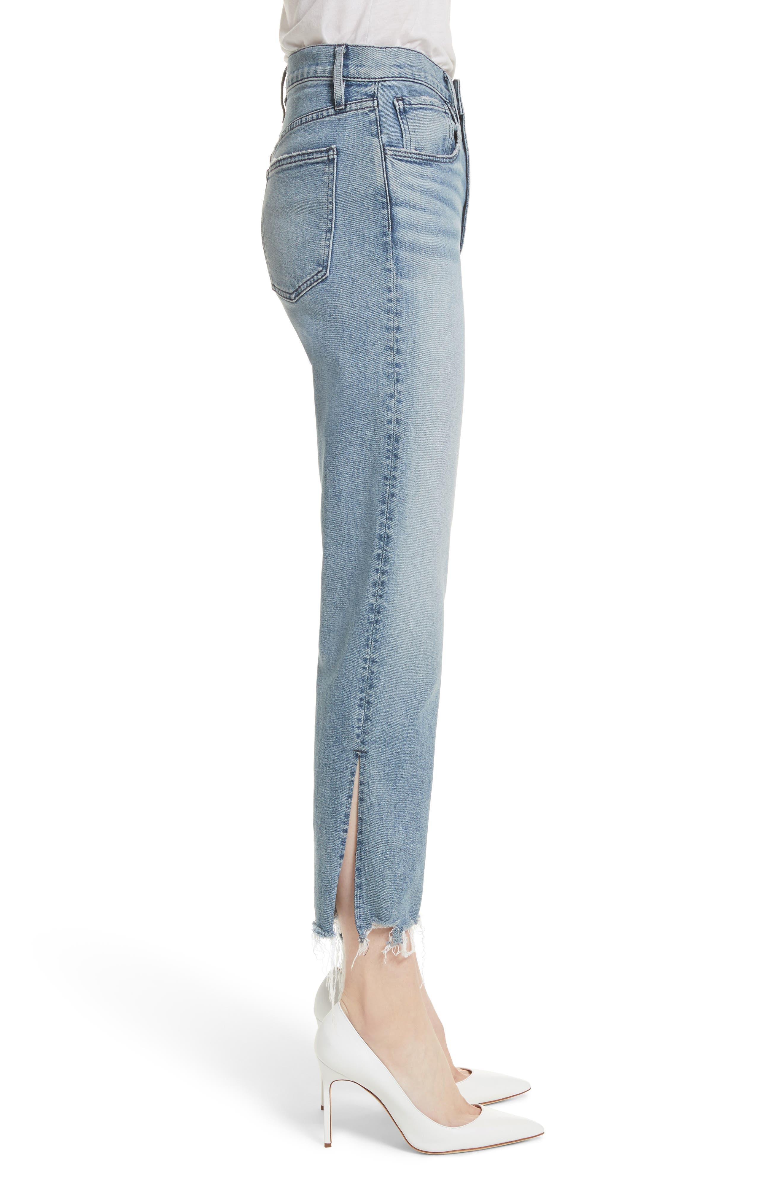 W3 Higher Ground Side Split Ankle Straight Leg Jeans,                             Alternate thumbnail 3, color,                             428