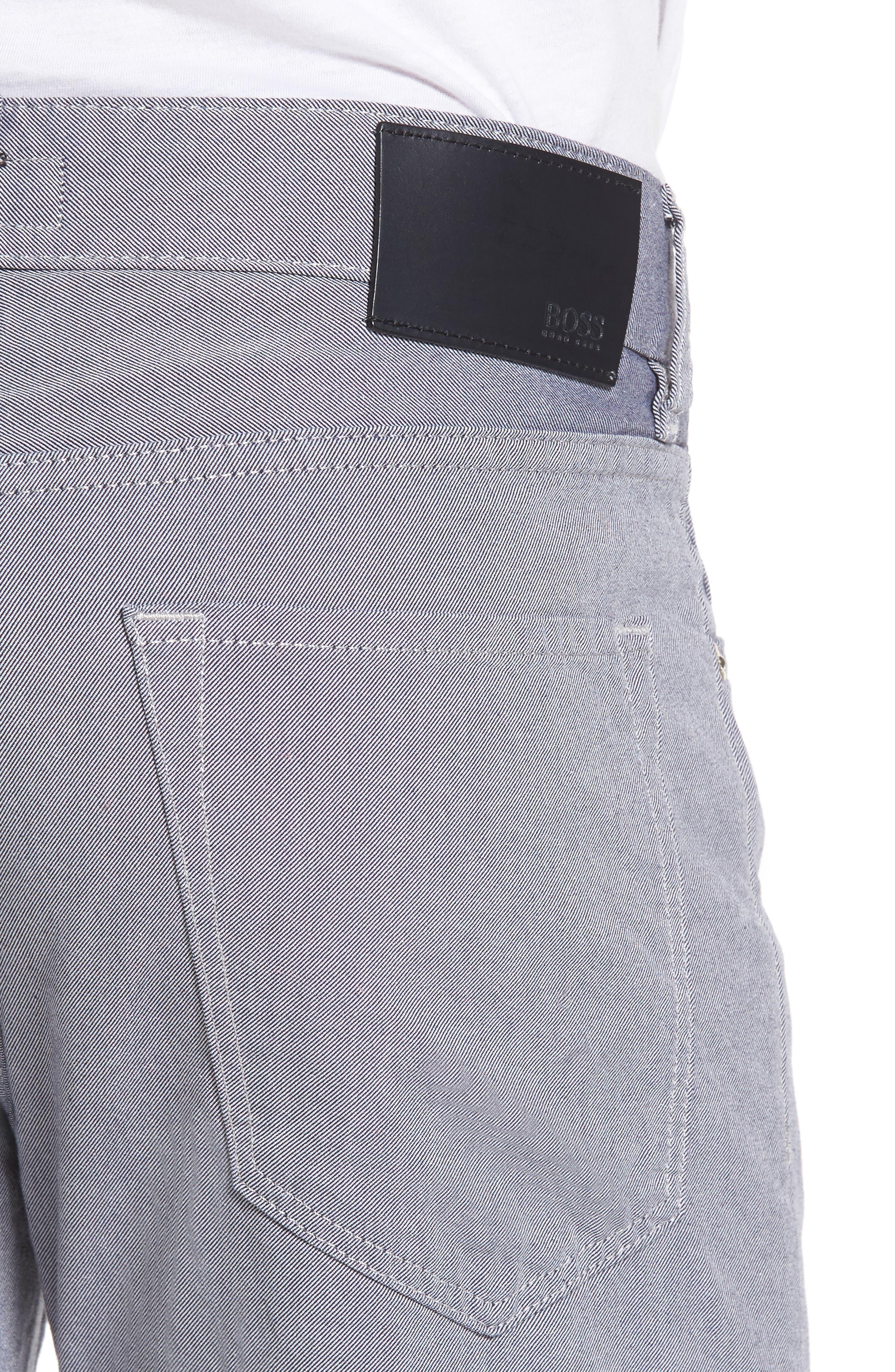 Slim Fit Twill Pants,                             Alternate thumbnail 4, color,