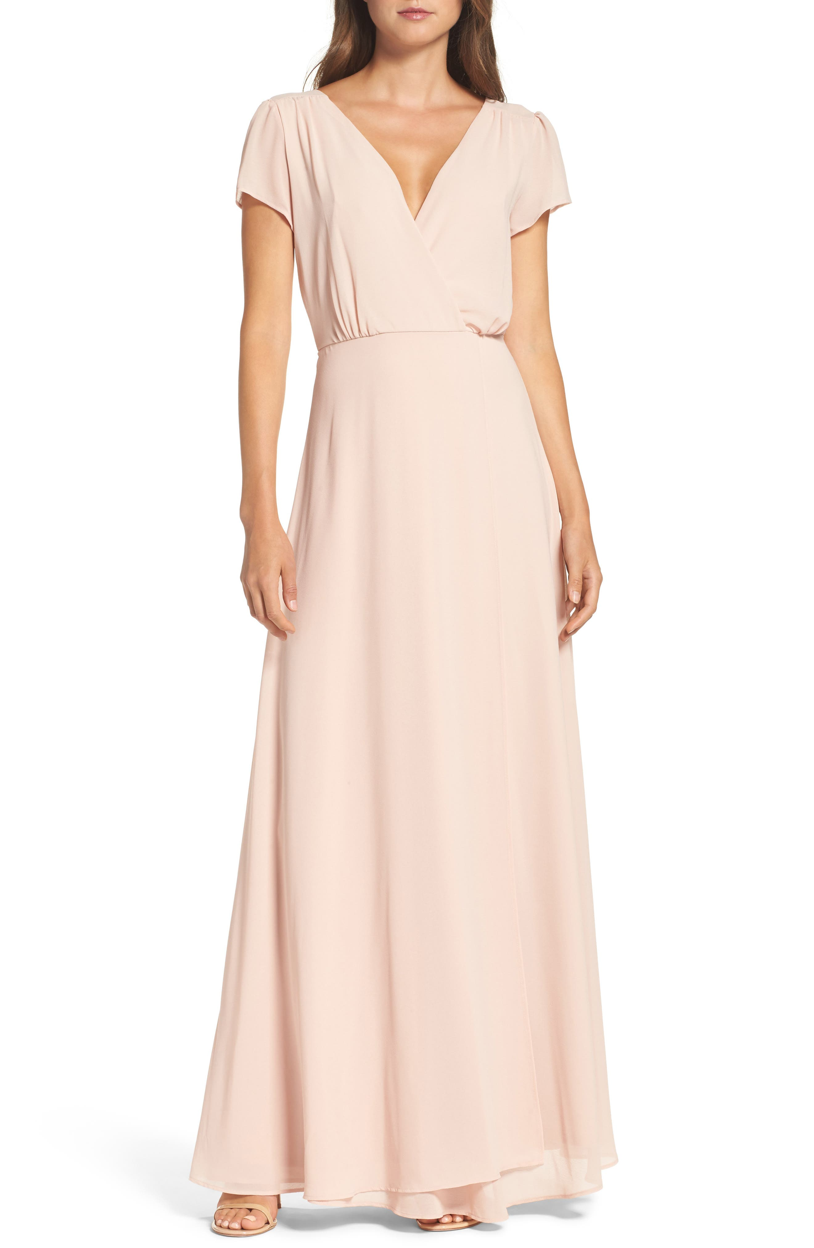 Lace-Up Back Chiffon Gown,                             Alternate thumbnail 10, color,