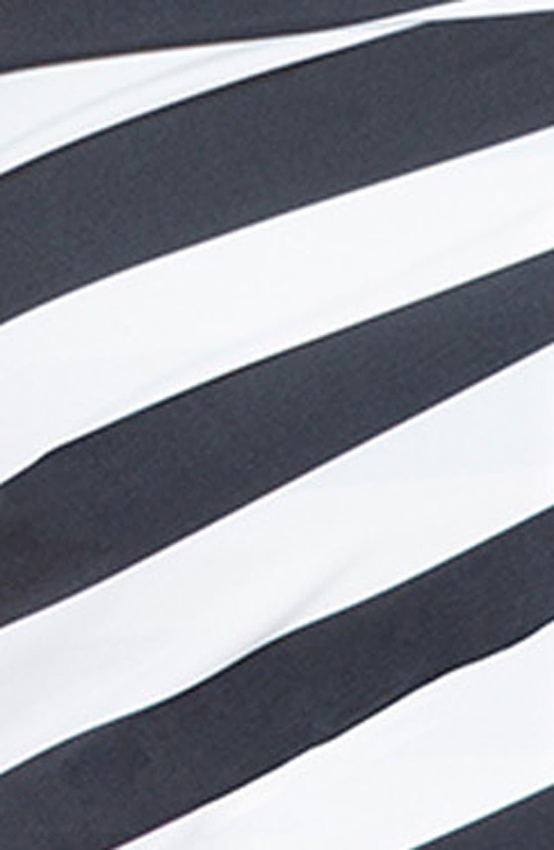 ELOQUII,                             Stripe Asymmetrical Wrap Dress,                             Alternate thumbnail 3, color,                             005