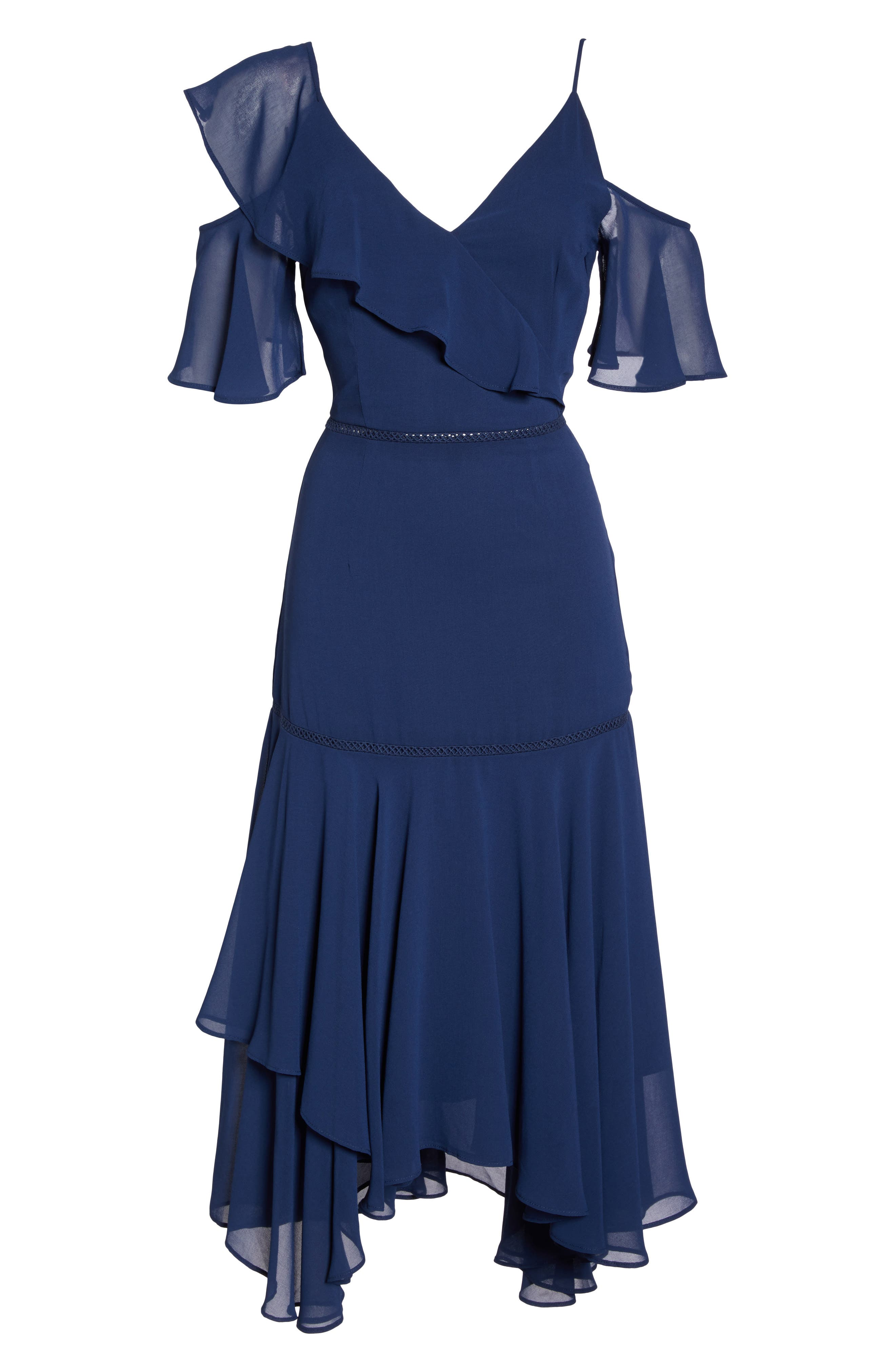 Utopia Cold Shoulder Midi Dress,                             Alternate thumbnail 6, color,                             435